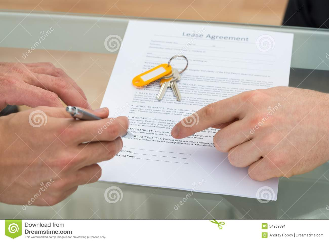 Person Signing Lease Agreement Stock Image Image Of Occupation