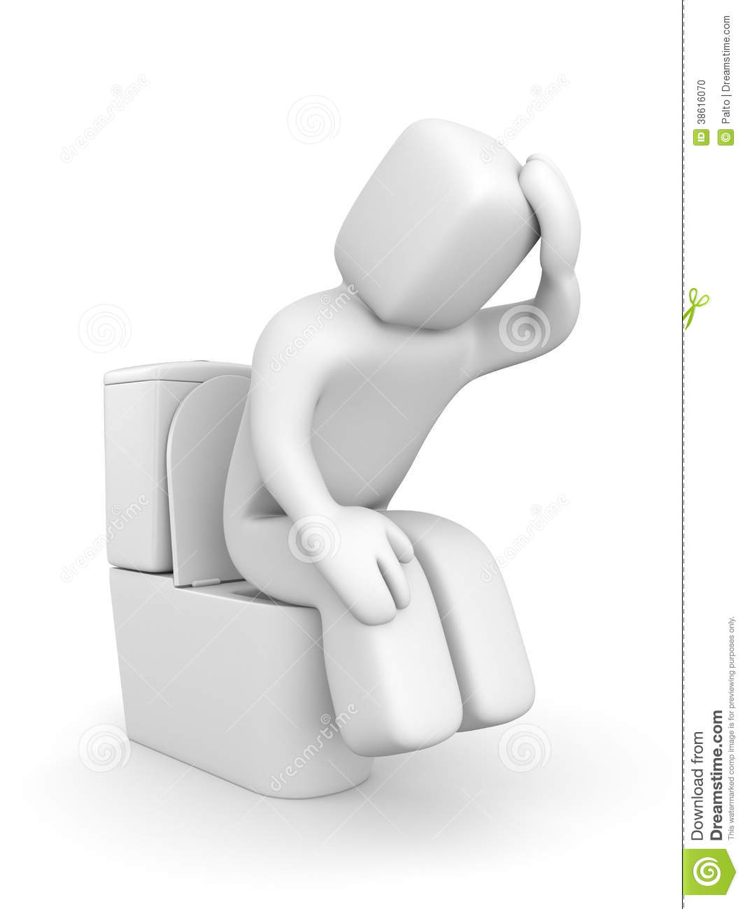 Person Is Sitting On The Toilet Bowl Stock Photo - Image ...