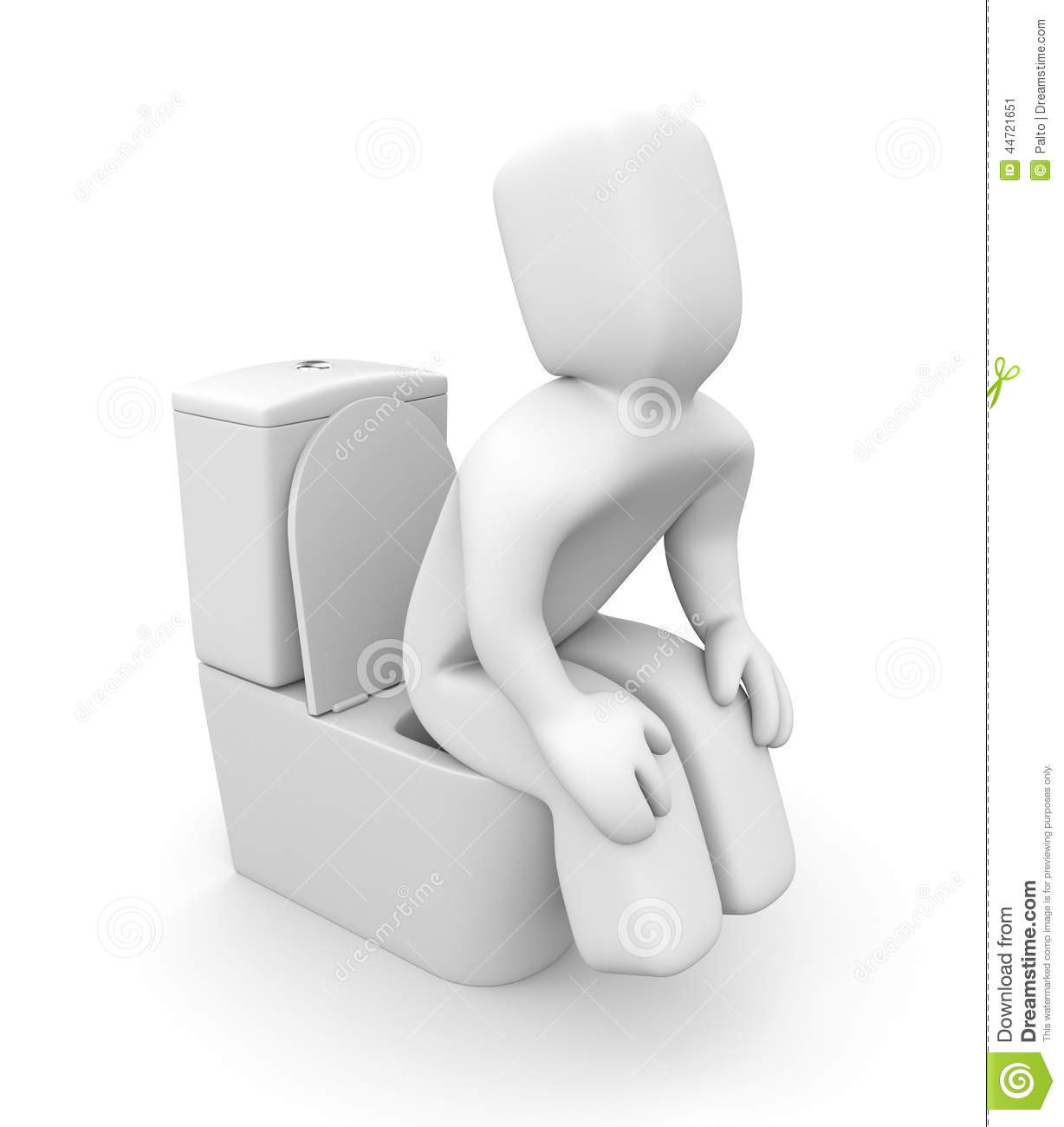 Person Is Sitting On The Toilet Bowl Stock Illustration ...