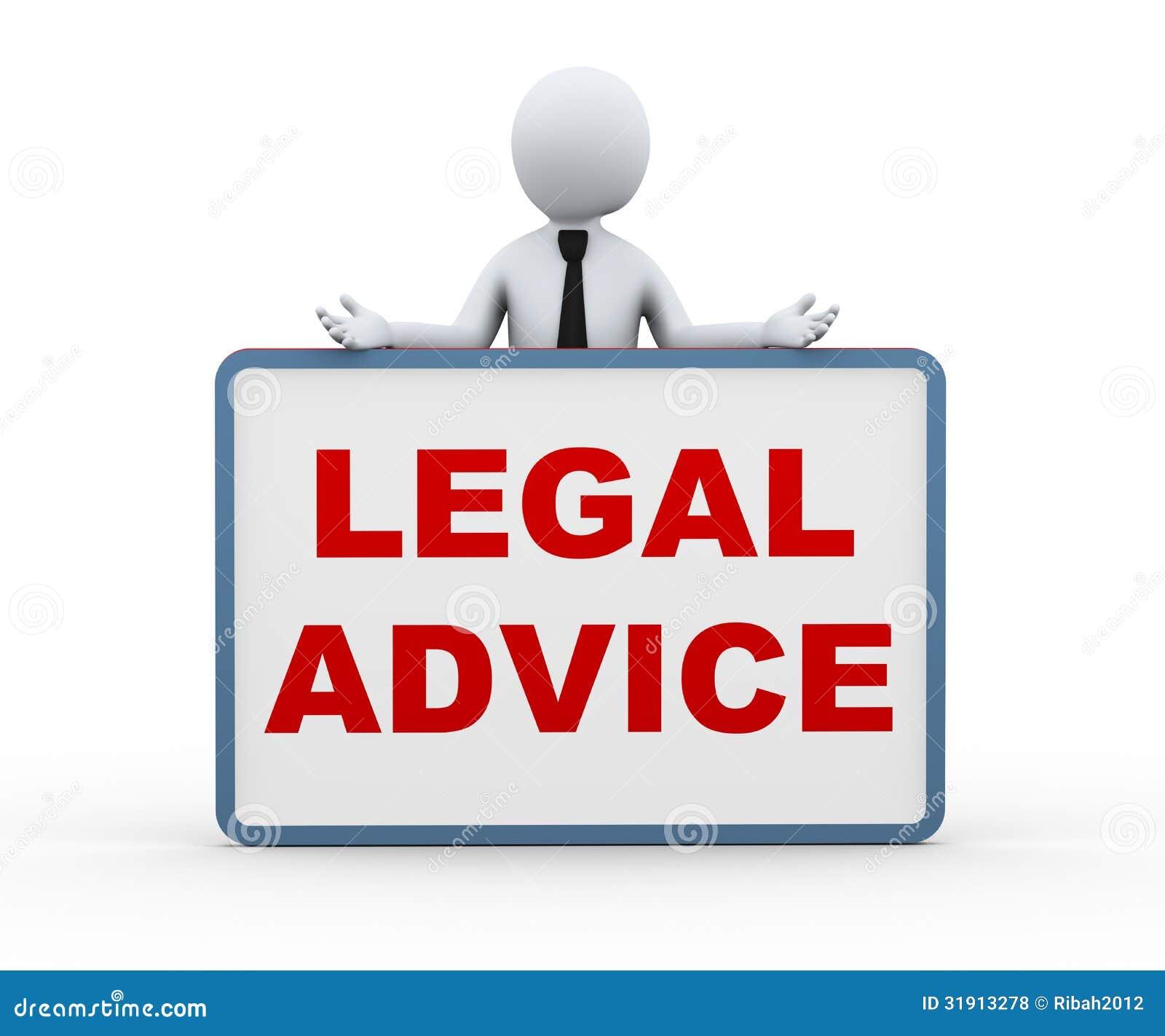 Person som 3d framlägger laglig rådgivning