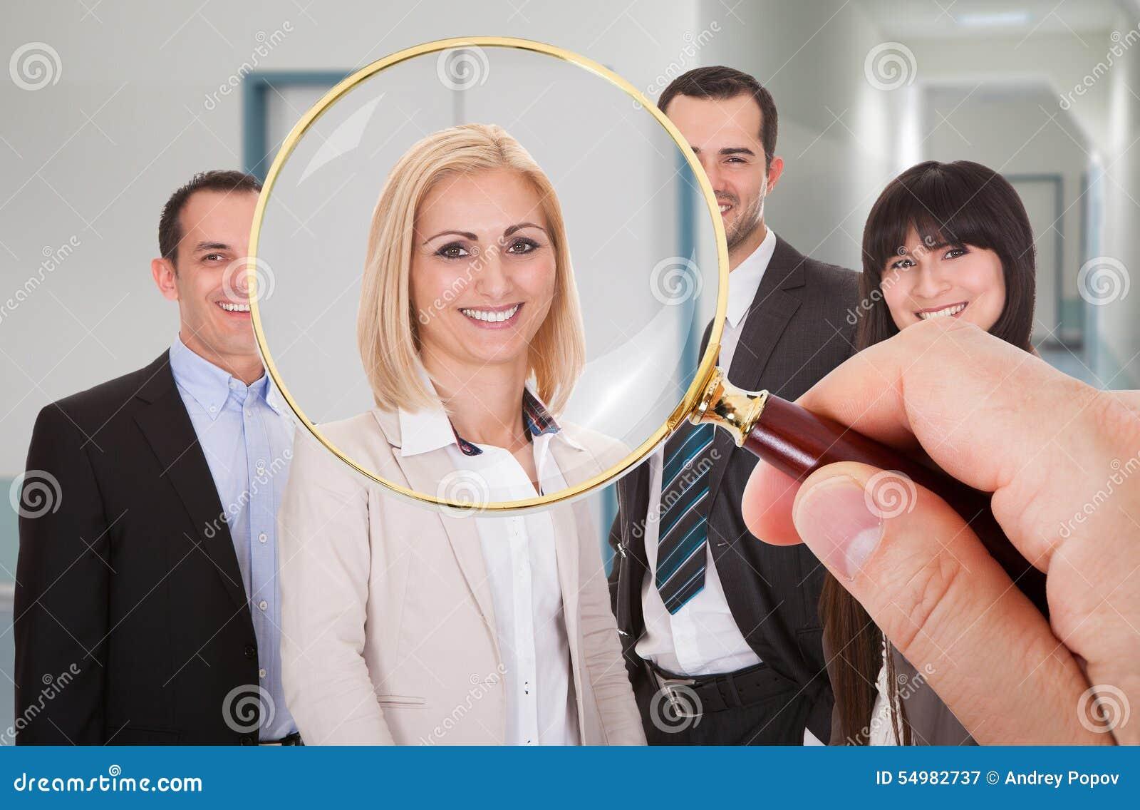 Person som söker efter kandidaten