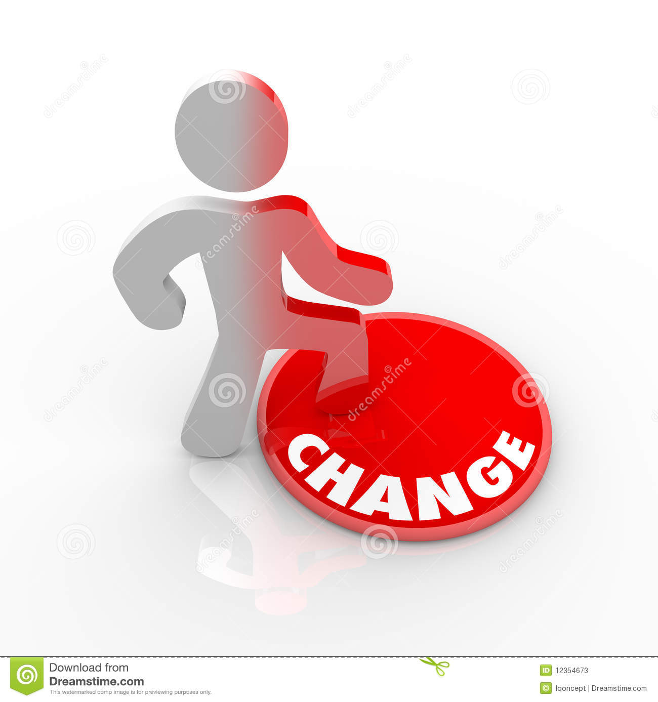 Person Stepping Onto Change Button Stock Photos Image 12354673