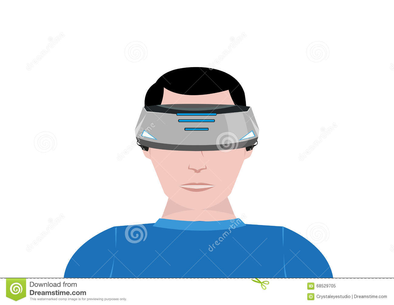 A Person Uses A Virtual Reality Device For 360 Video Gaming ...
