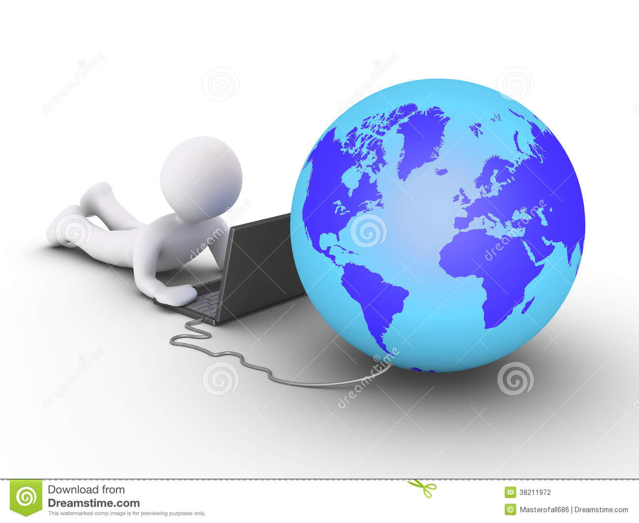 Computer Connected By 2 People : Person is using a computer connected to the world stock