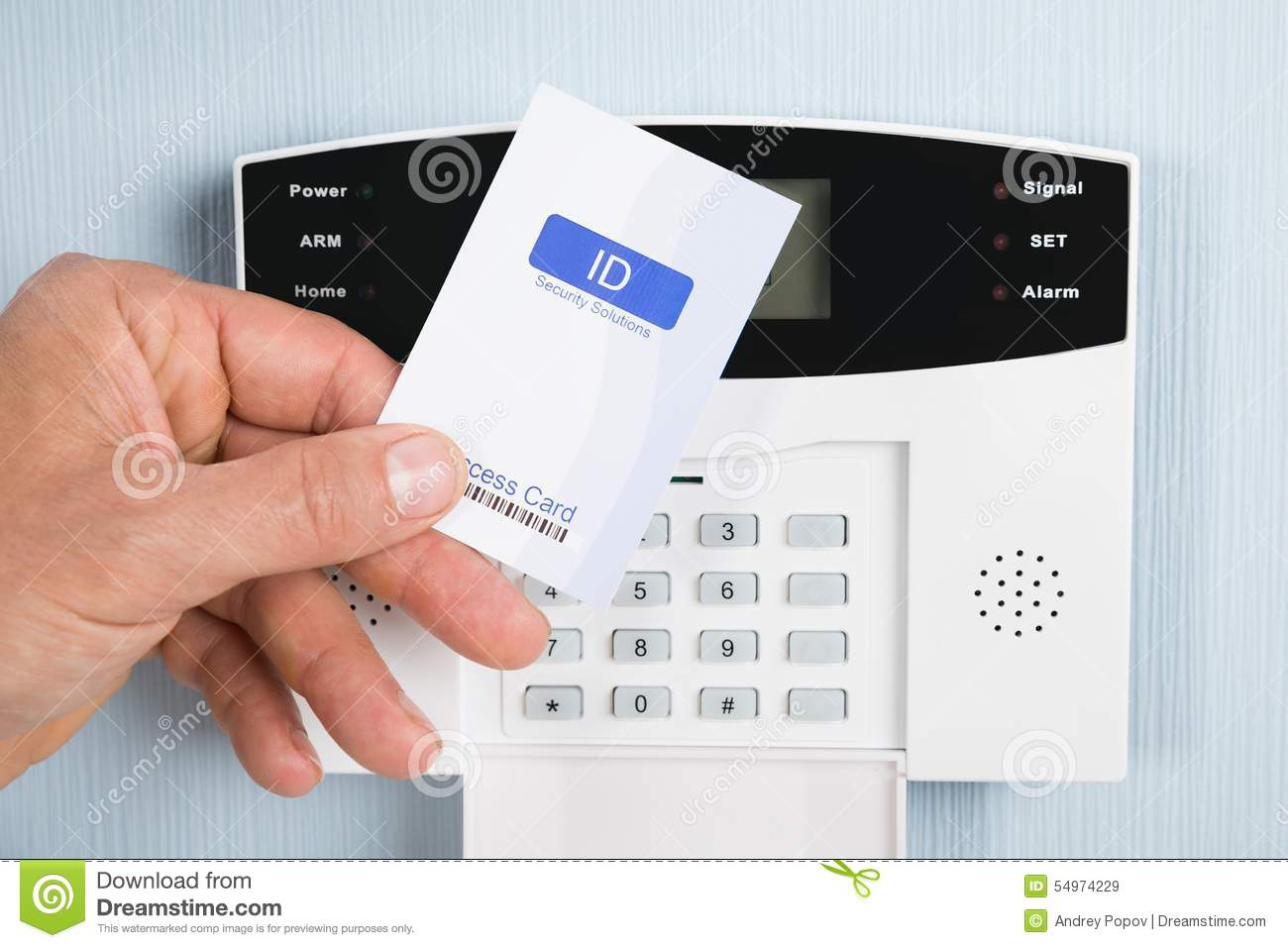 Person Using Security Card Stock Photo Image 54974229