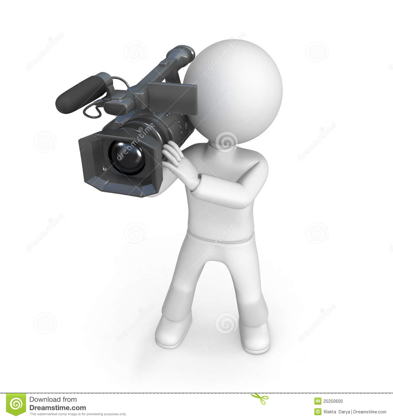Person With Video Camera Stock Photo - Image: 25250600
