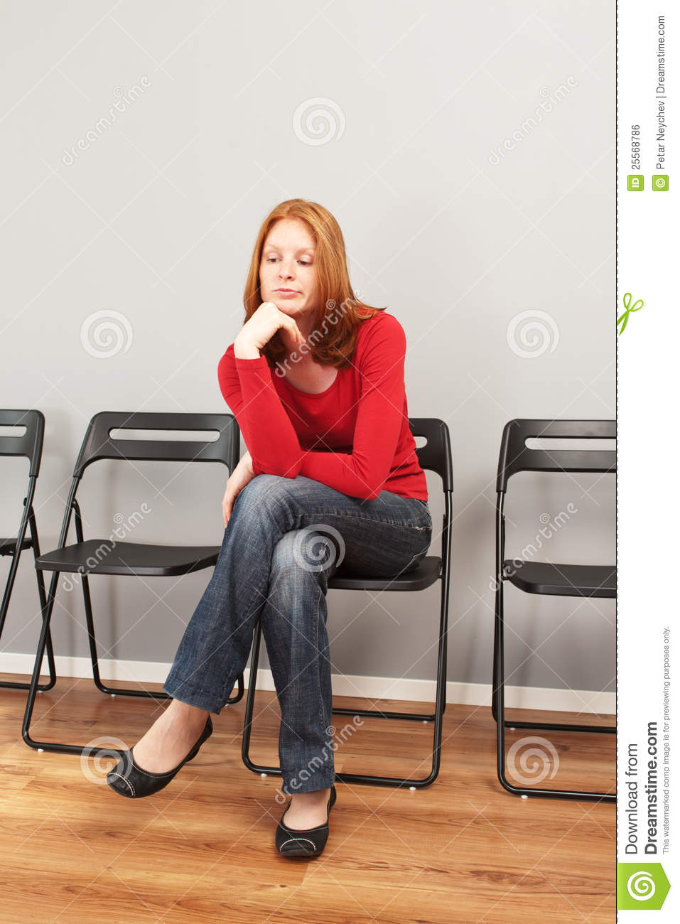 Person In A Waiting Room Royalty Free Stock Image Image