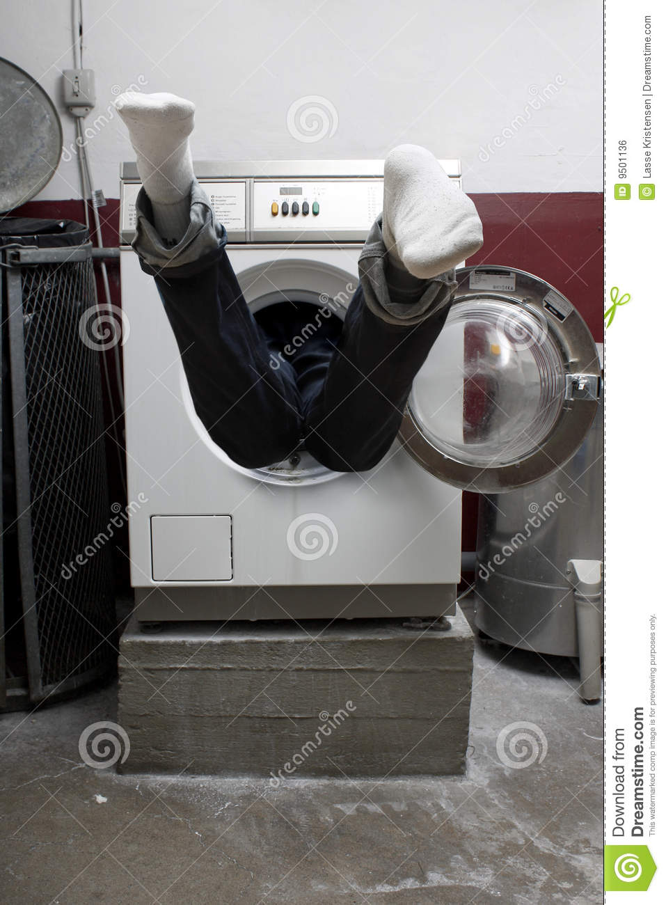 Person In Washing Machine Stock Photo Image Of Feet