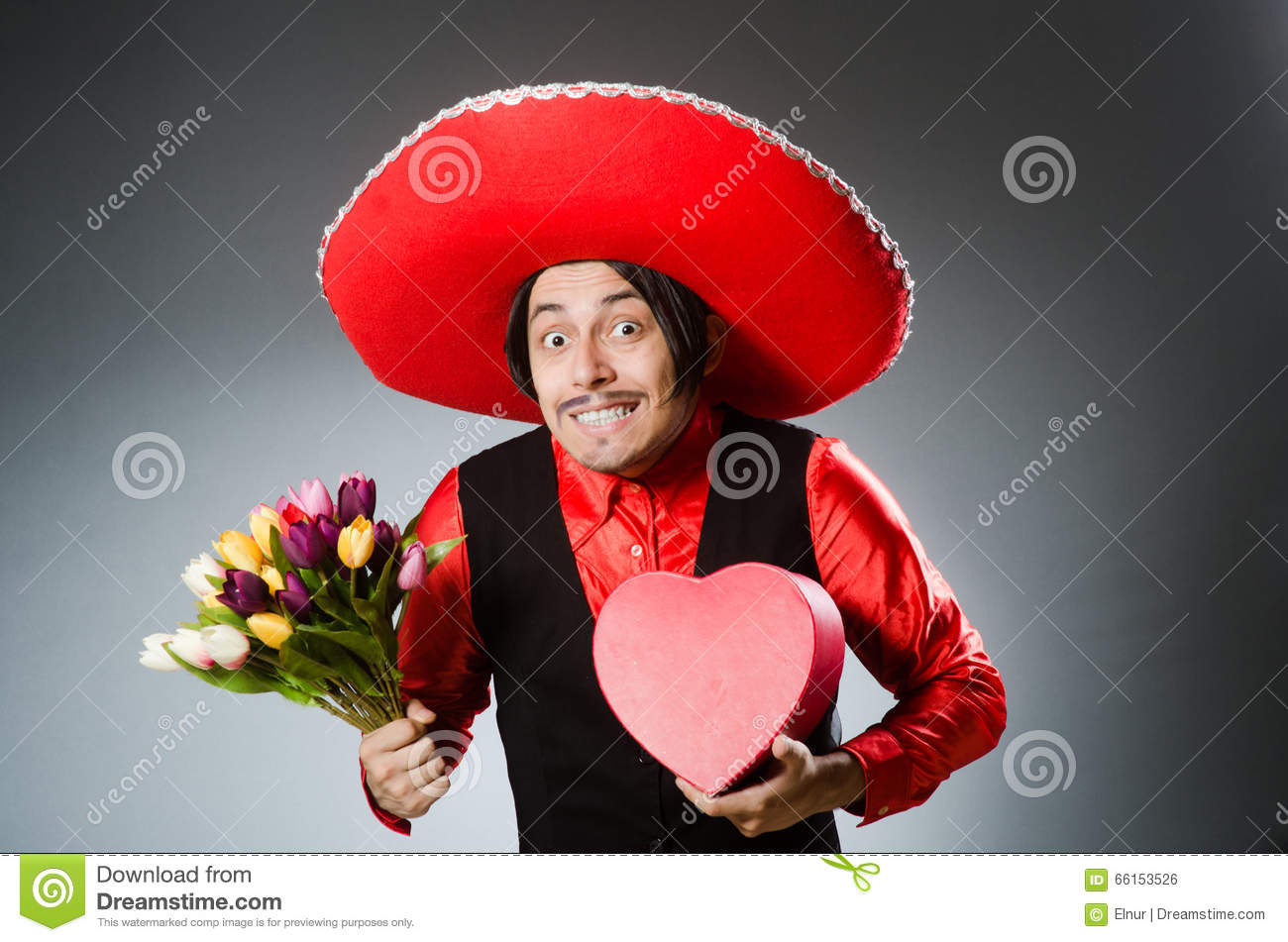 Royalty-Free Stock Photo. The person wearing sombrero hat in funny concept aea135af086
