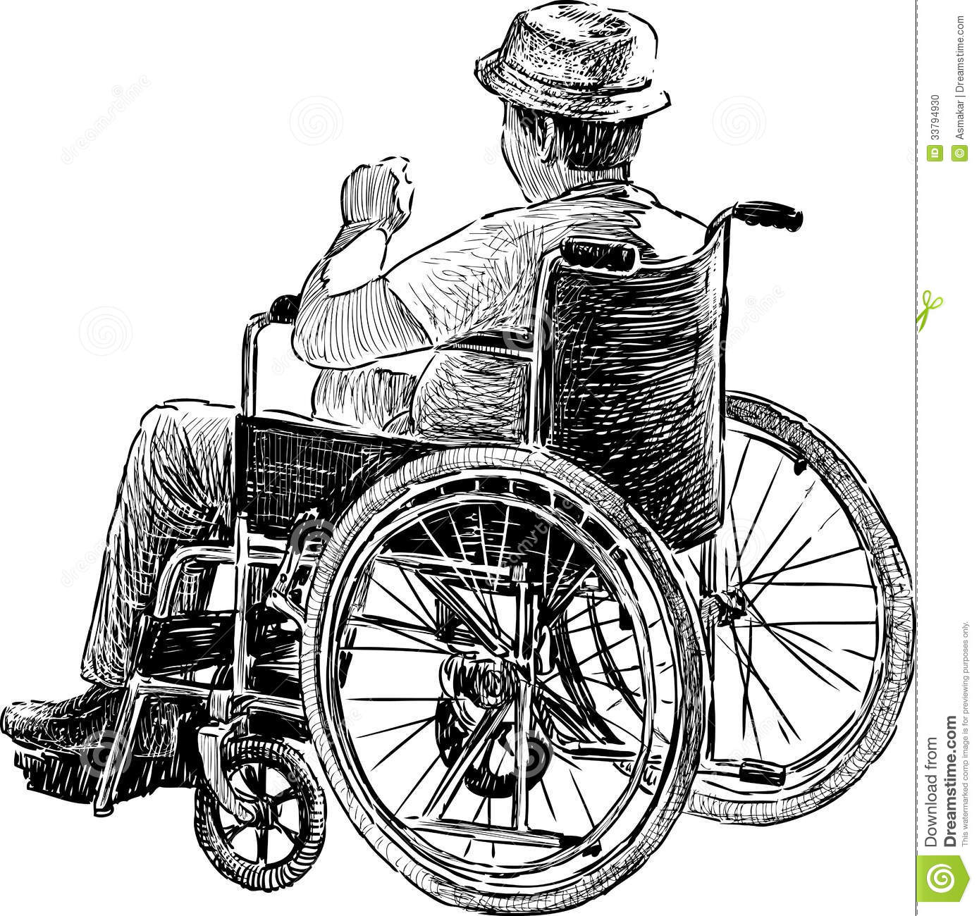 dd16d38d3ef49 Person in wheelchair stock vector. Illustration of wheelchair - 33794930