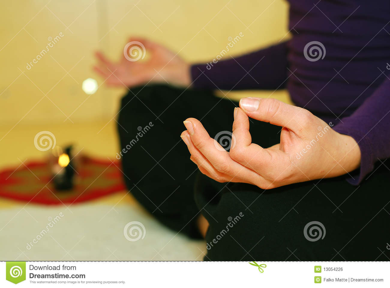 Person in Yoga position