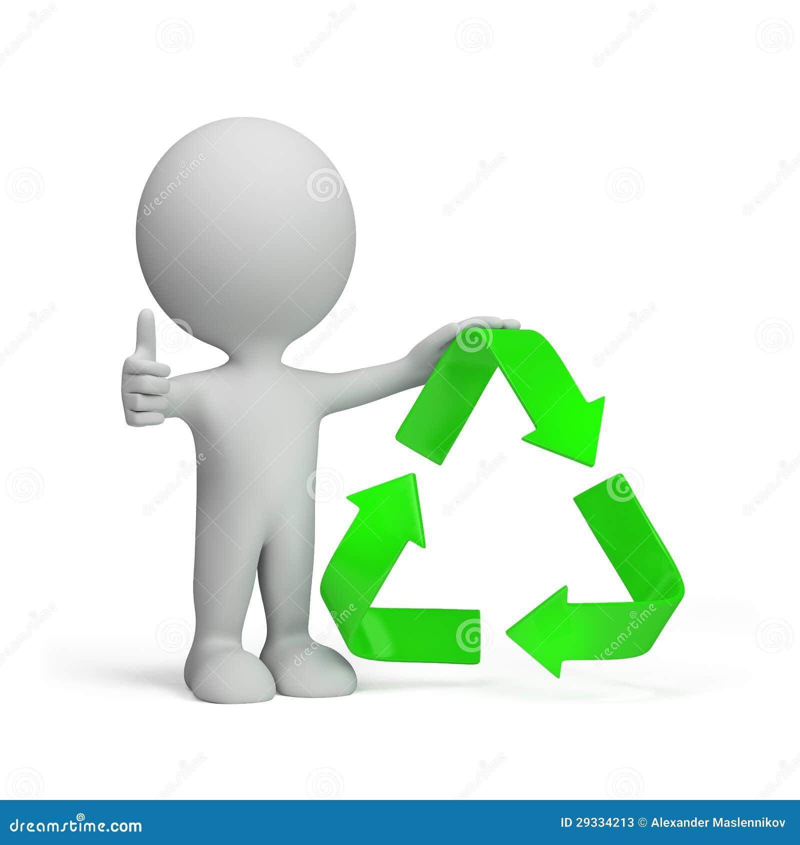 Persona Con Mbolo Reciclaje Fotos Archivo Imagen
