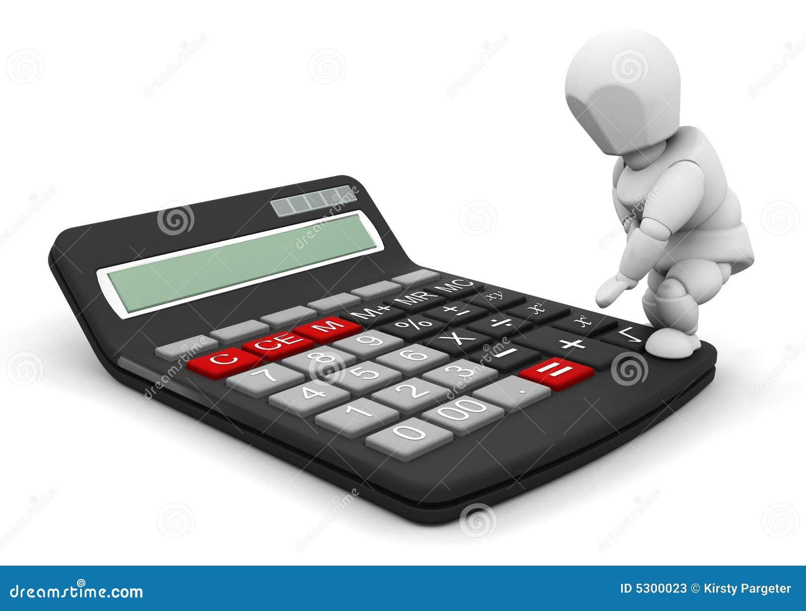 Download Persona con il calcolatore illustrazione di stock. Illustrazione di femmina - 5300023
