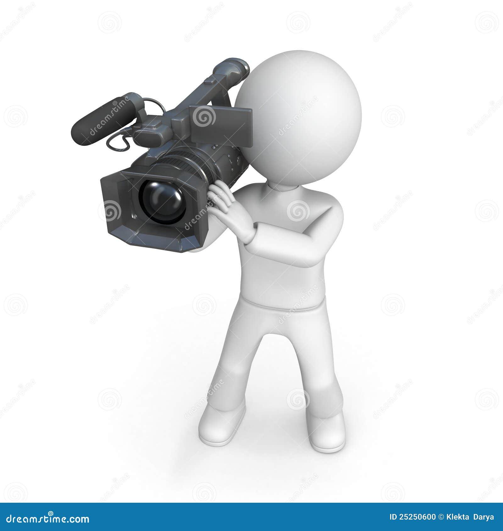 Persona con la cámara de vídeo