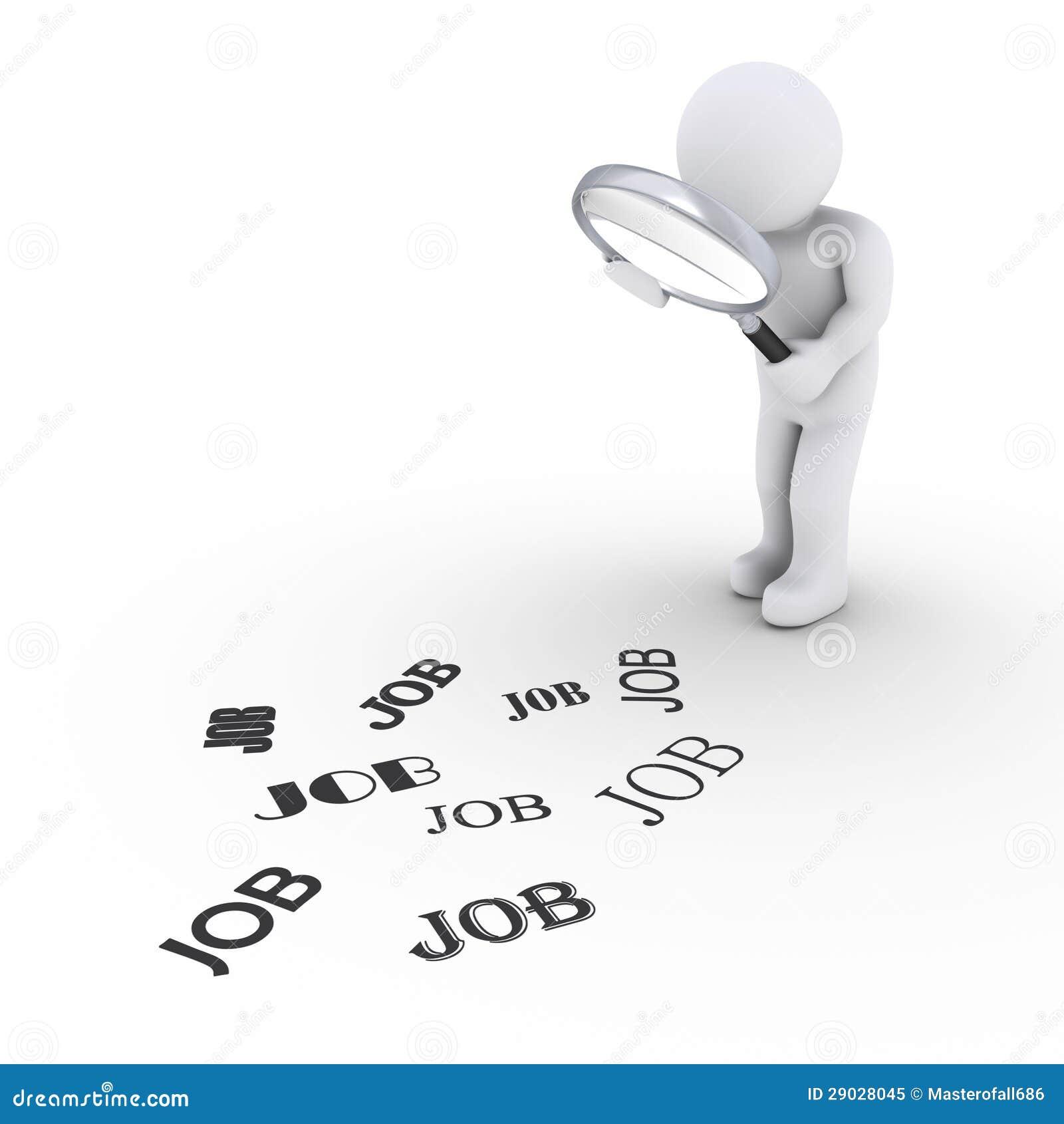 Persona con la lupa que busca trabajo