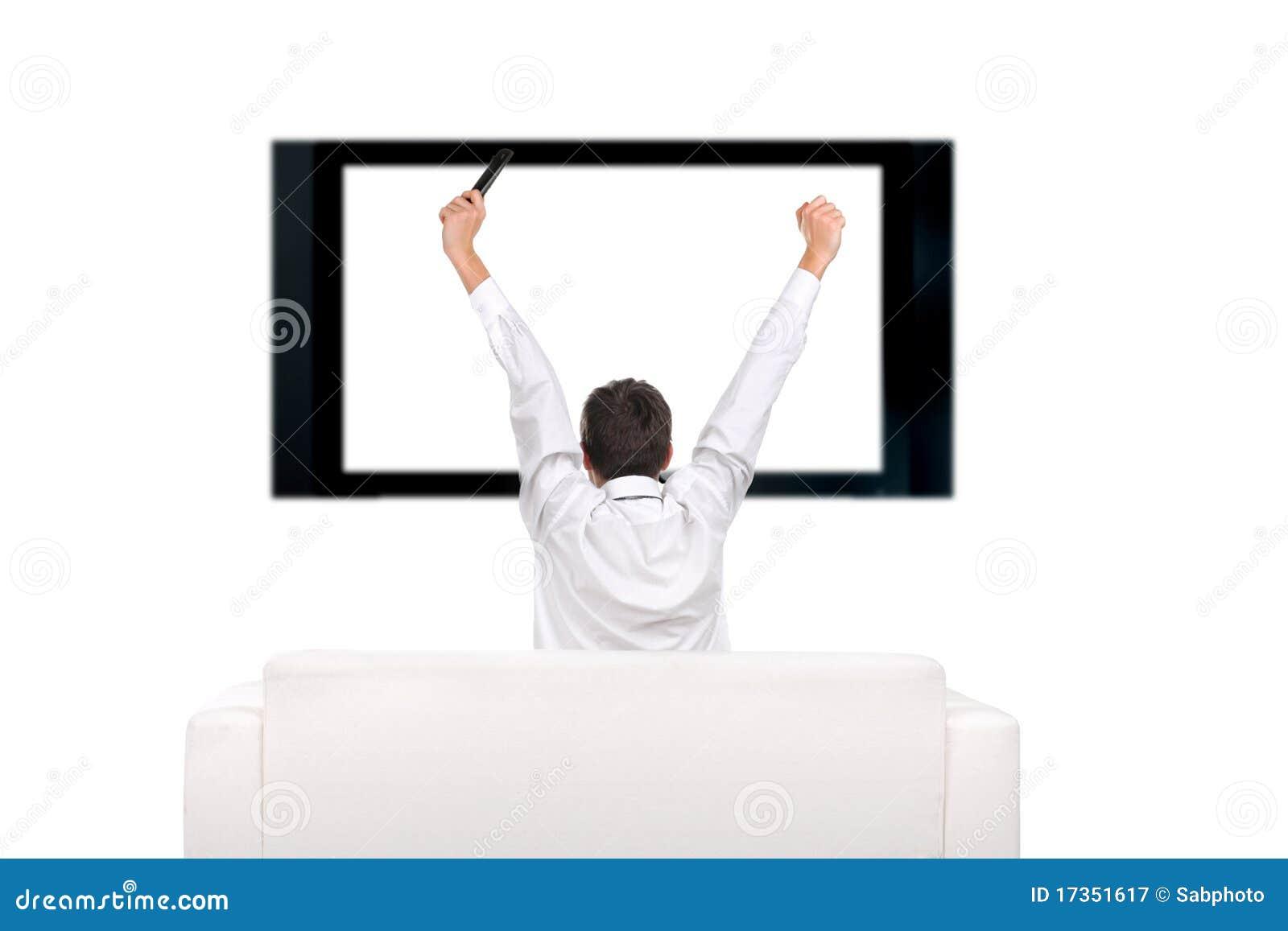 Persona e televisore