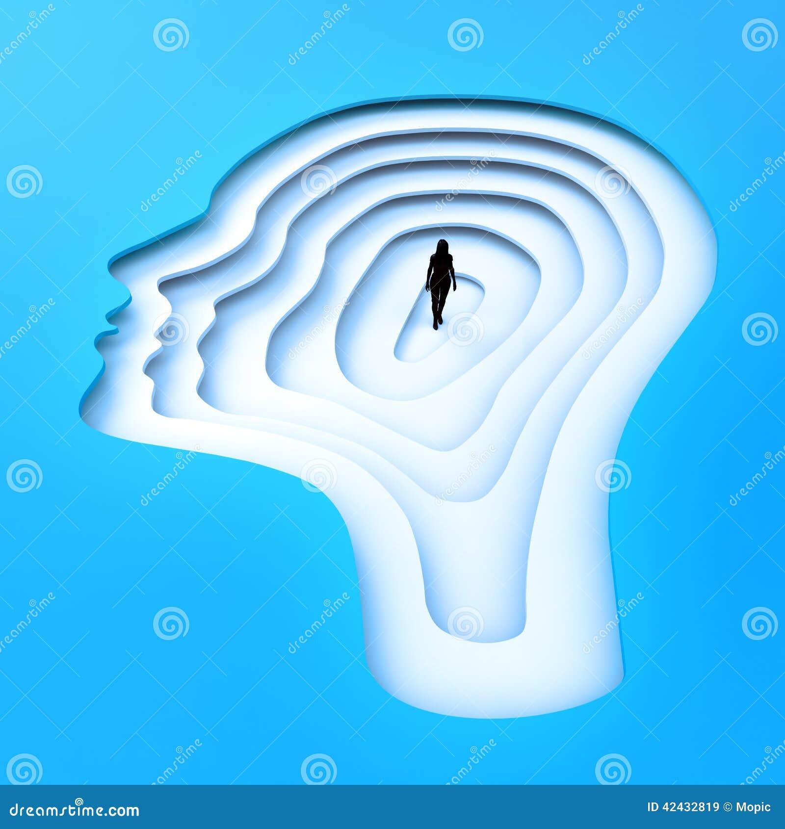 Persona minúscula que se coloca dentro de una silueta principal
