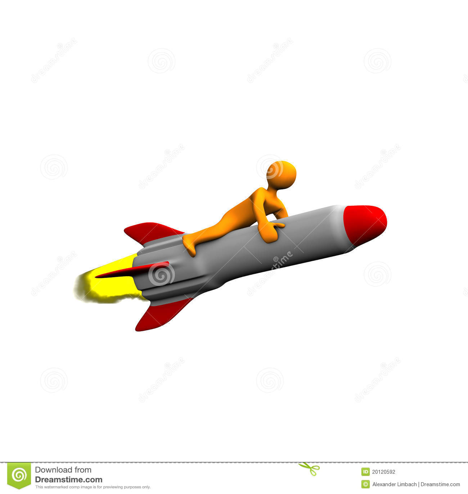 Persona sul missile o sul razzo fotografia stock - Immagini stampabili a razzo ...