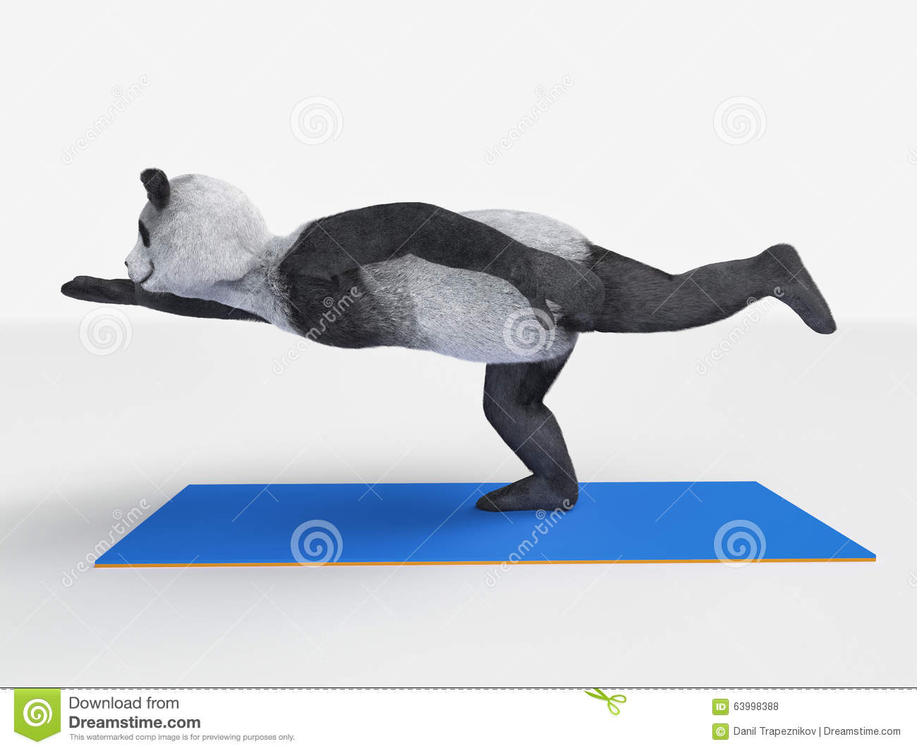 Panda Yoga Stock Illustration Illustration Of