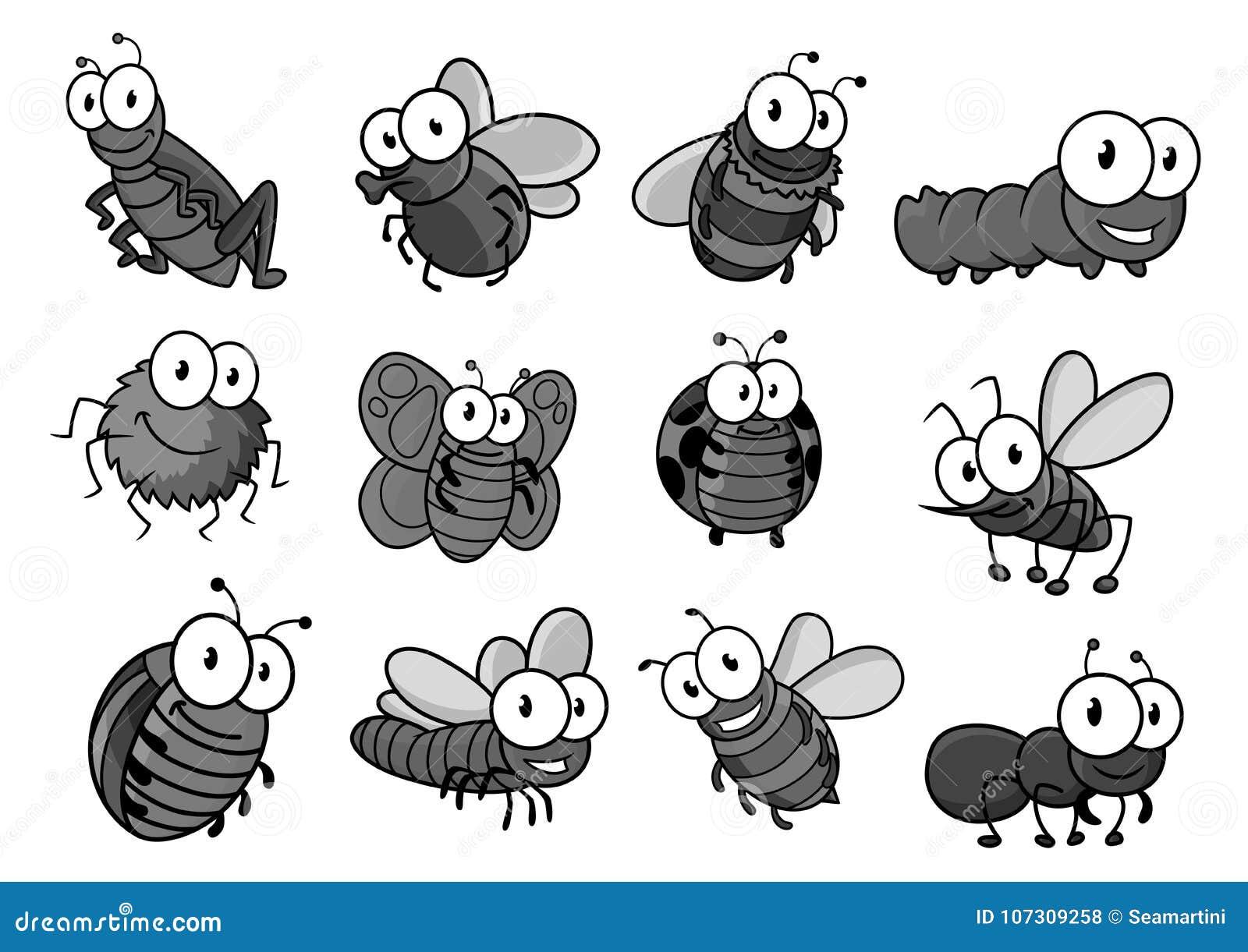 Personagem de banda desenhada do inseto para o projeto criançola