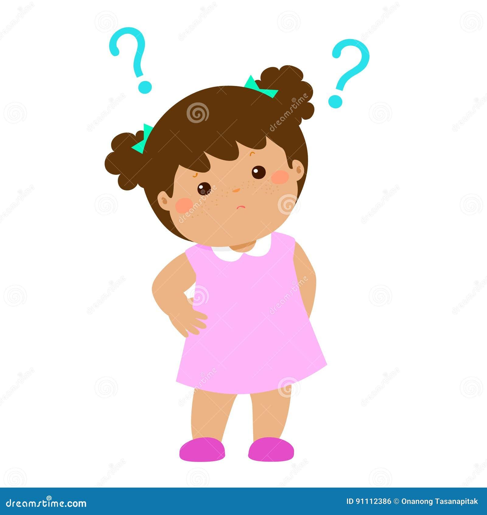Personagem de banda desenhada querendo saber da pele marrom da menina