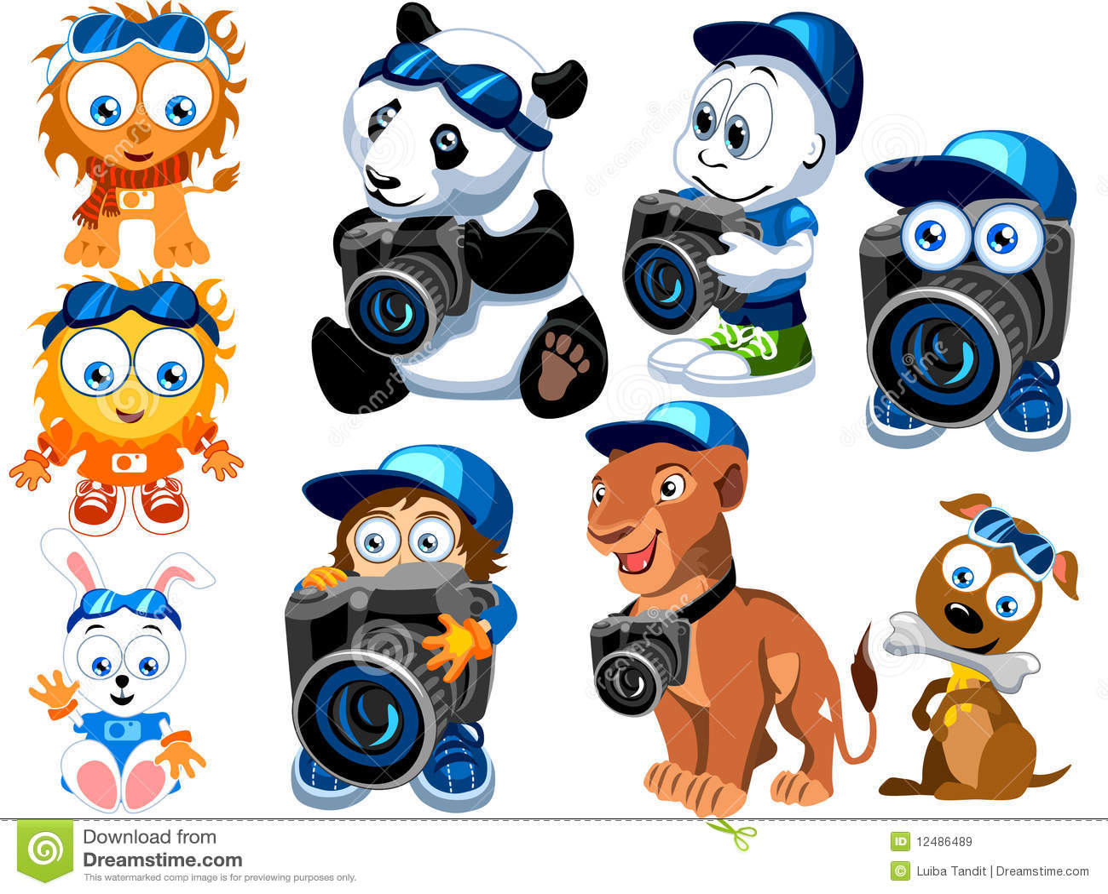 Personaggi dei cartoni animati immagini stock libere da