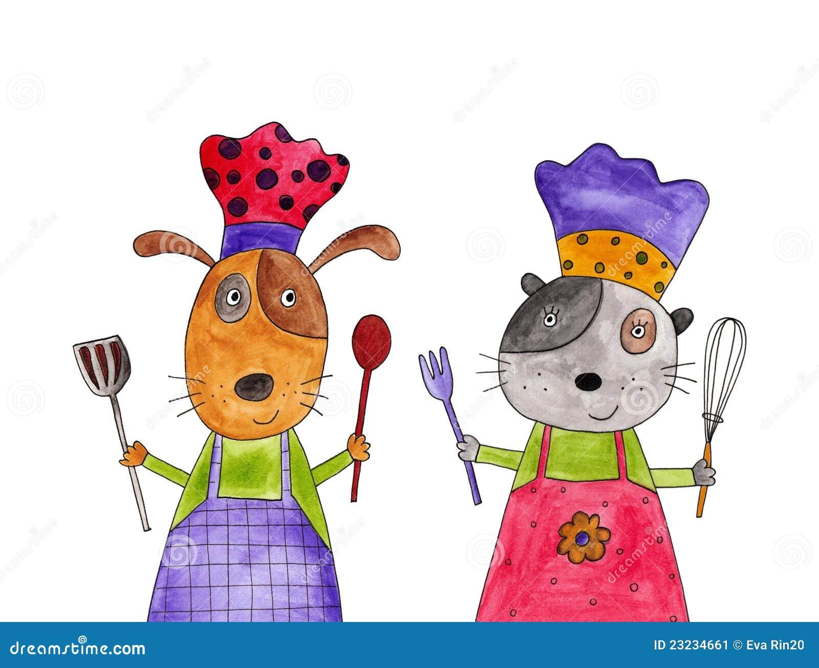 Personaggi dei cartoni animati illustrazione di stock