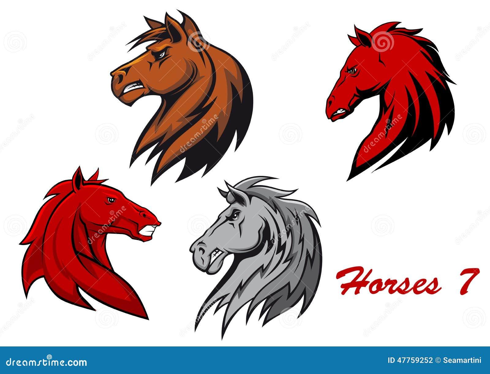 Personaggi dei cartoni animati degli stalloni del cavallo