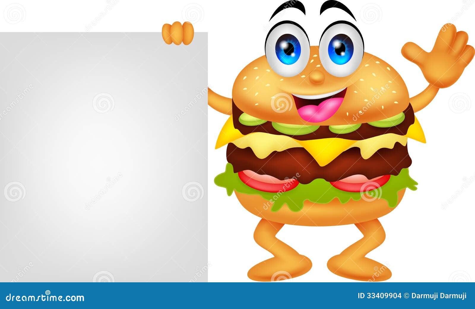 Personaggi dei cartoni animati dell 39 hamburger con il segno - Immagini dei cartoni animati vegetariani ...