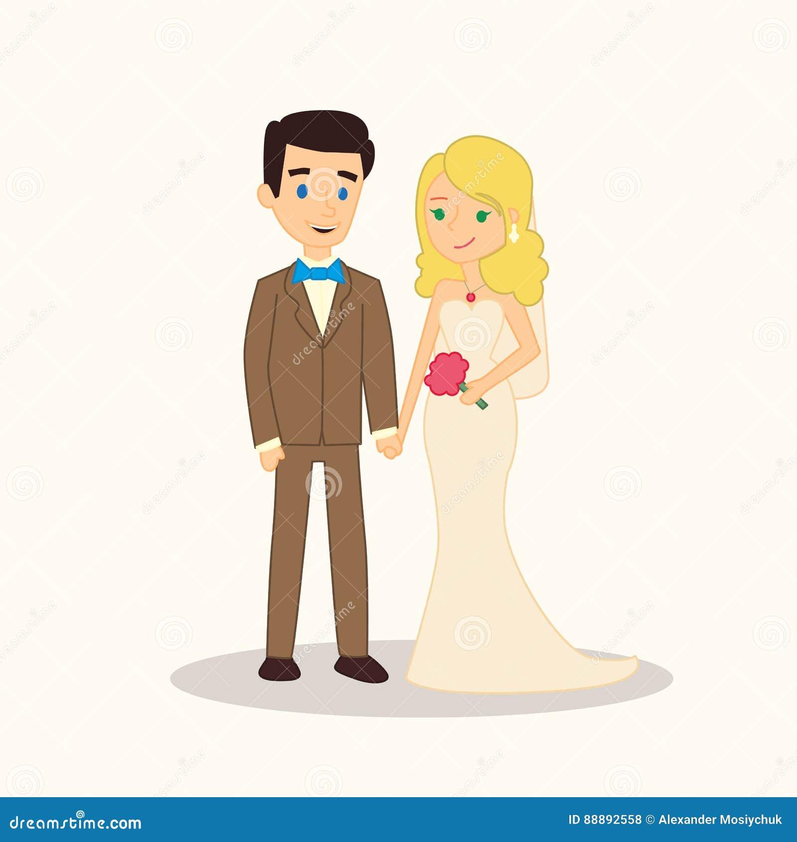Personaggi dei cartoni animati delle coppie di nozze la