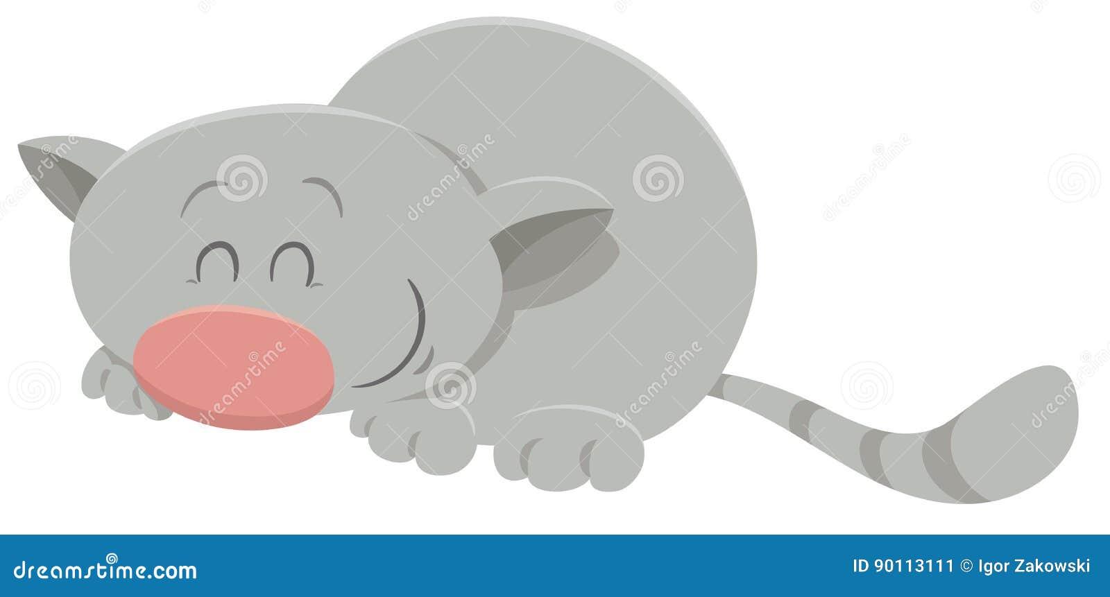 Personaggio dei cartoni animati addormentato del gatto illustrazione