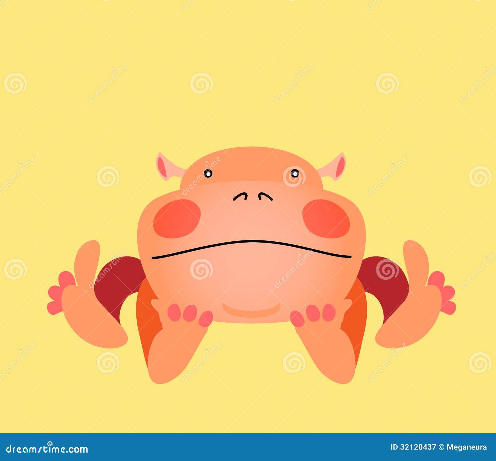 Personaggio dei cartoni animati animale di kawaii sveglio