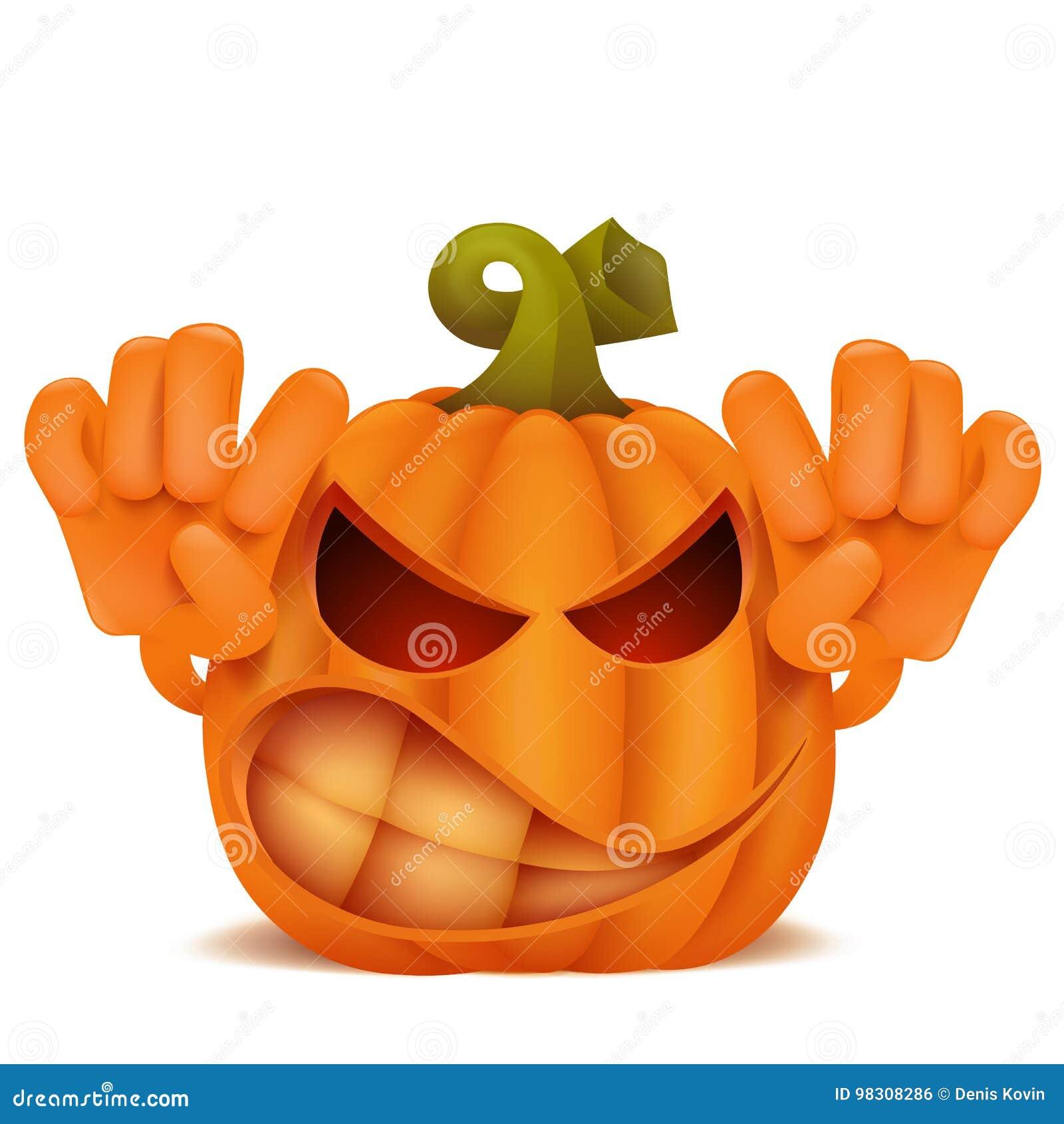Zucche Di Halloween Cartoni Animati.Personaggio Dei Cartoni Animati Arrabbiato Dell Emoticon Di Jack