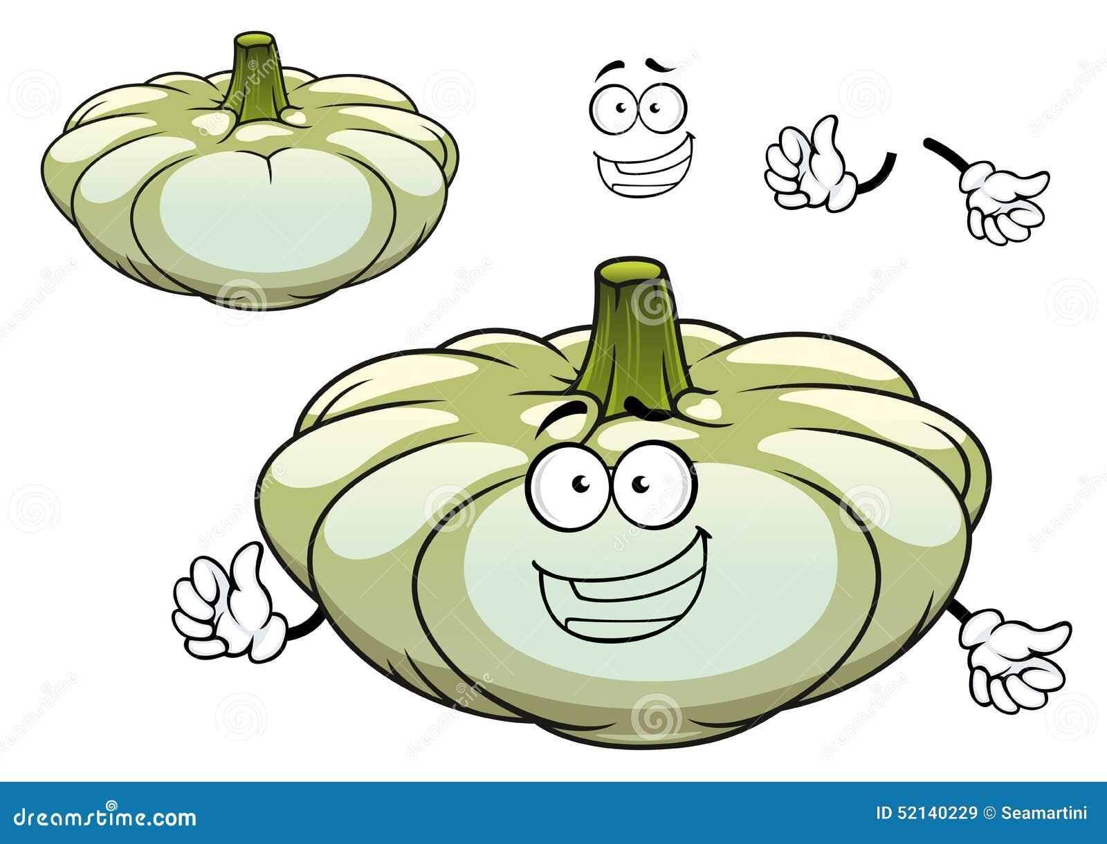 Personaggio dei cartoni animati bianco della verdura