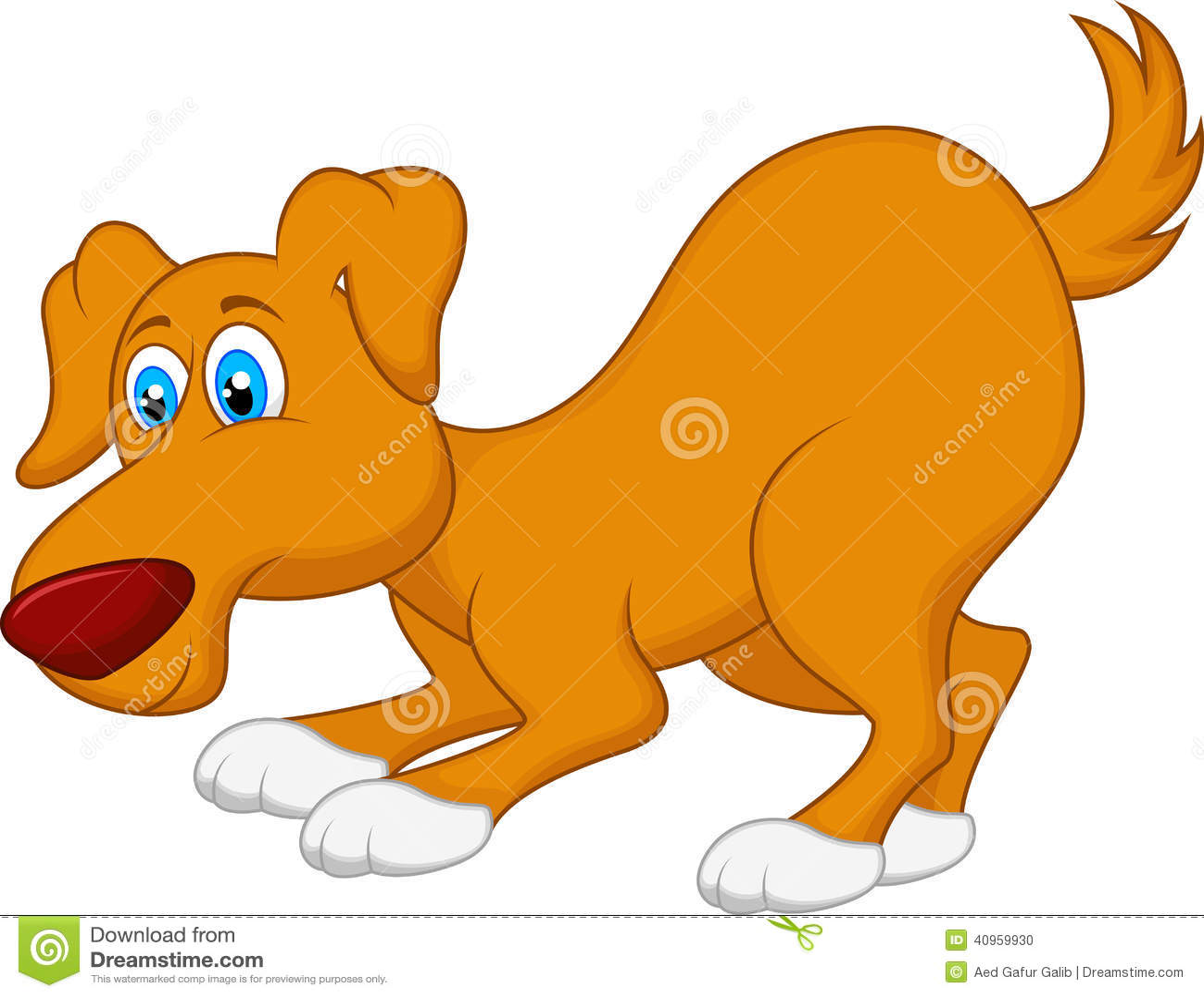 Personaggio dei cartoni animati del cane illustrazione
