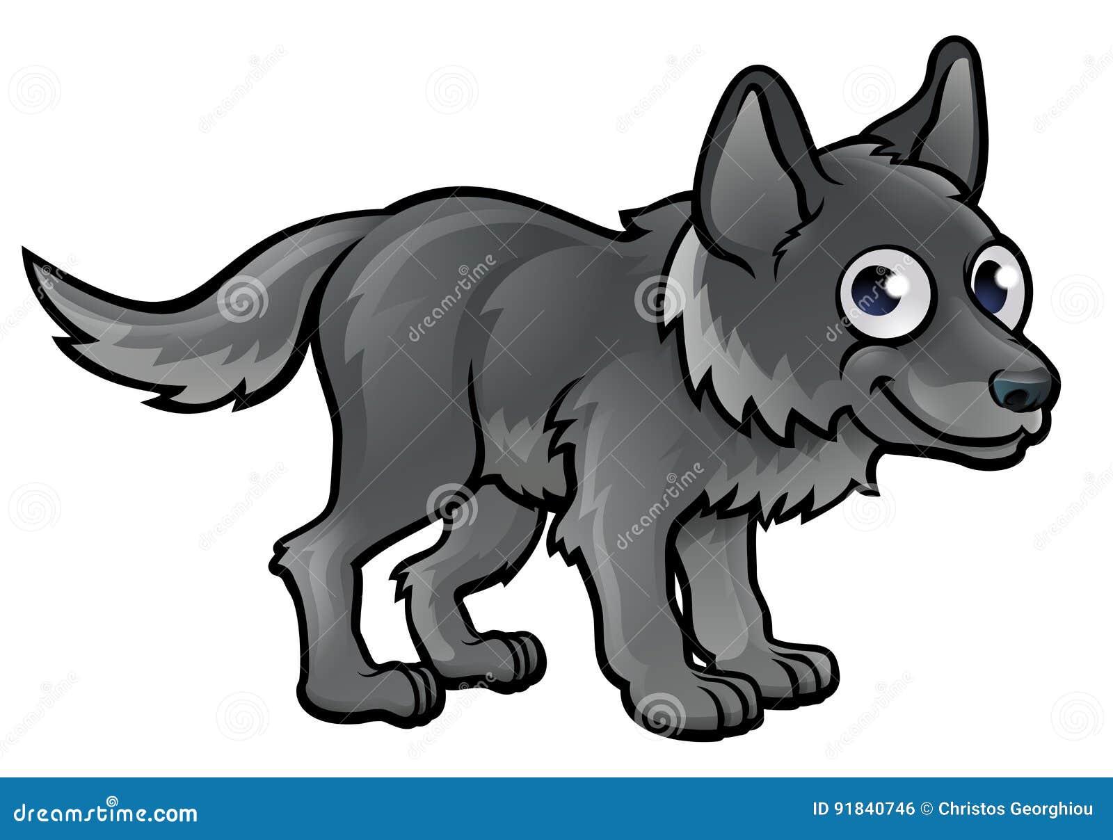 Personaggio dei cartoni animati del lupo illustrazione vettoriale