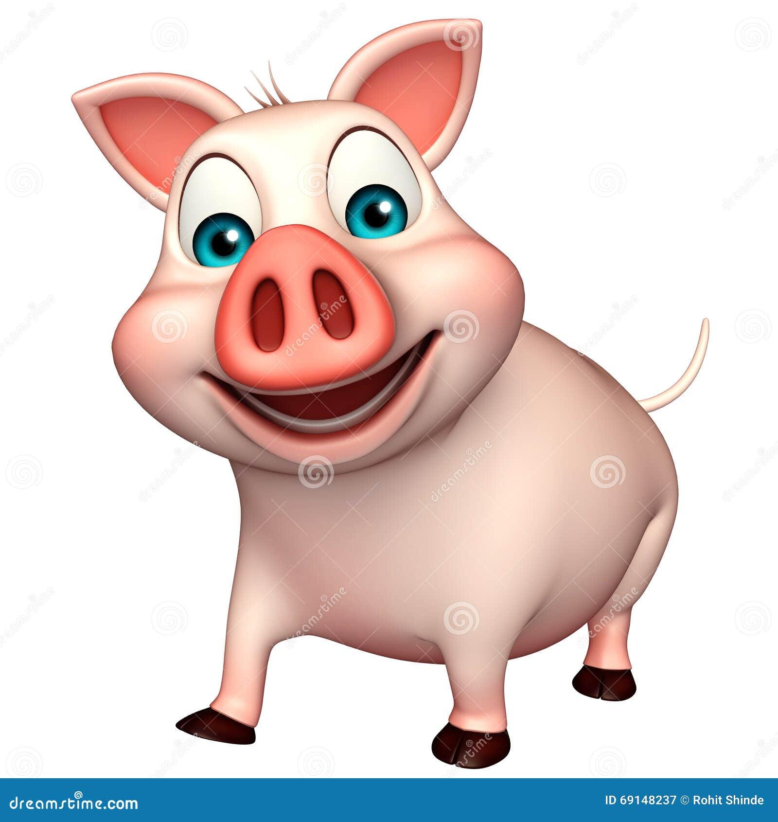 Personaggio dei cartoni animati del maiale di divertimento