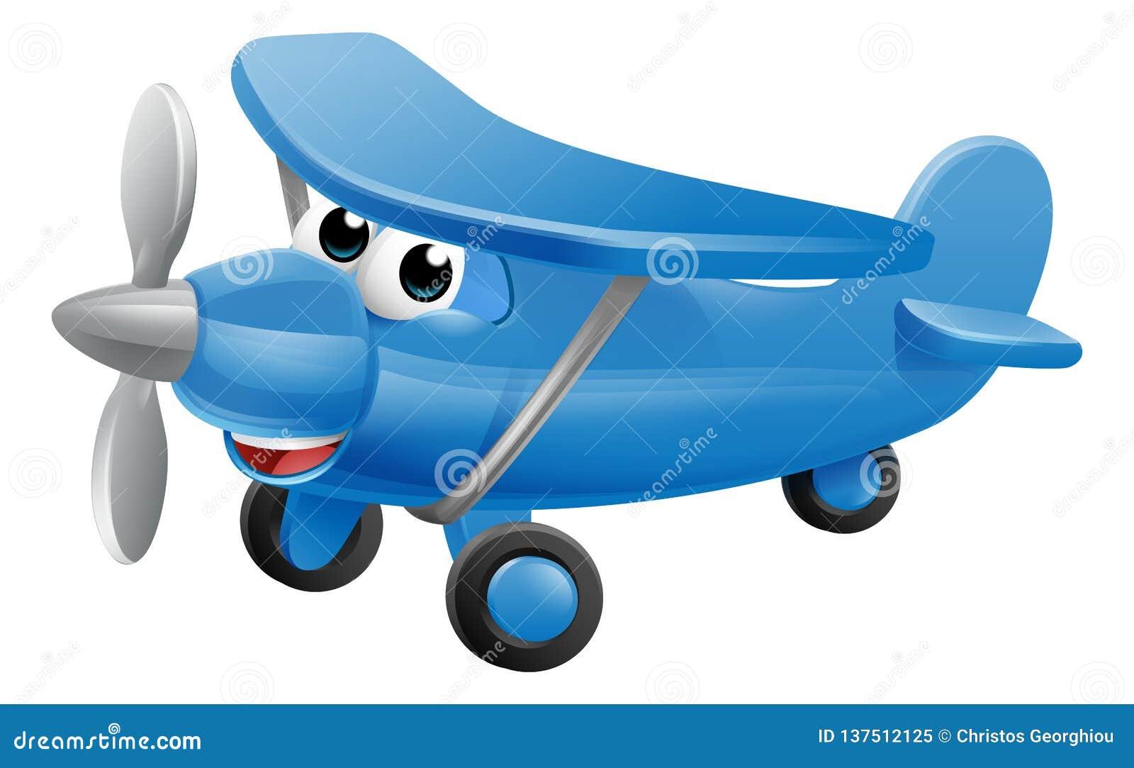 Personaggio dei cartoni animati dellaeroplano illustrazione