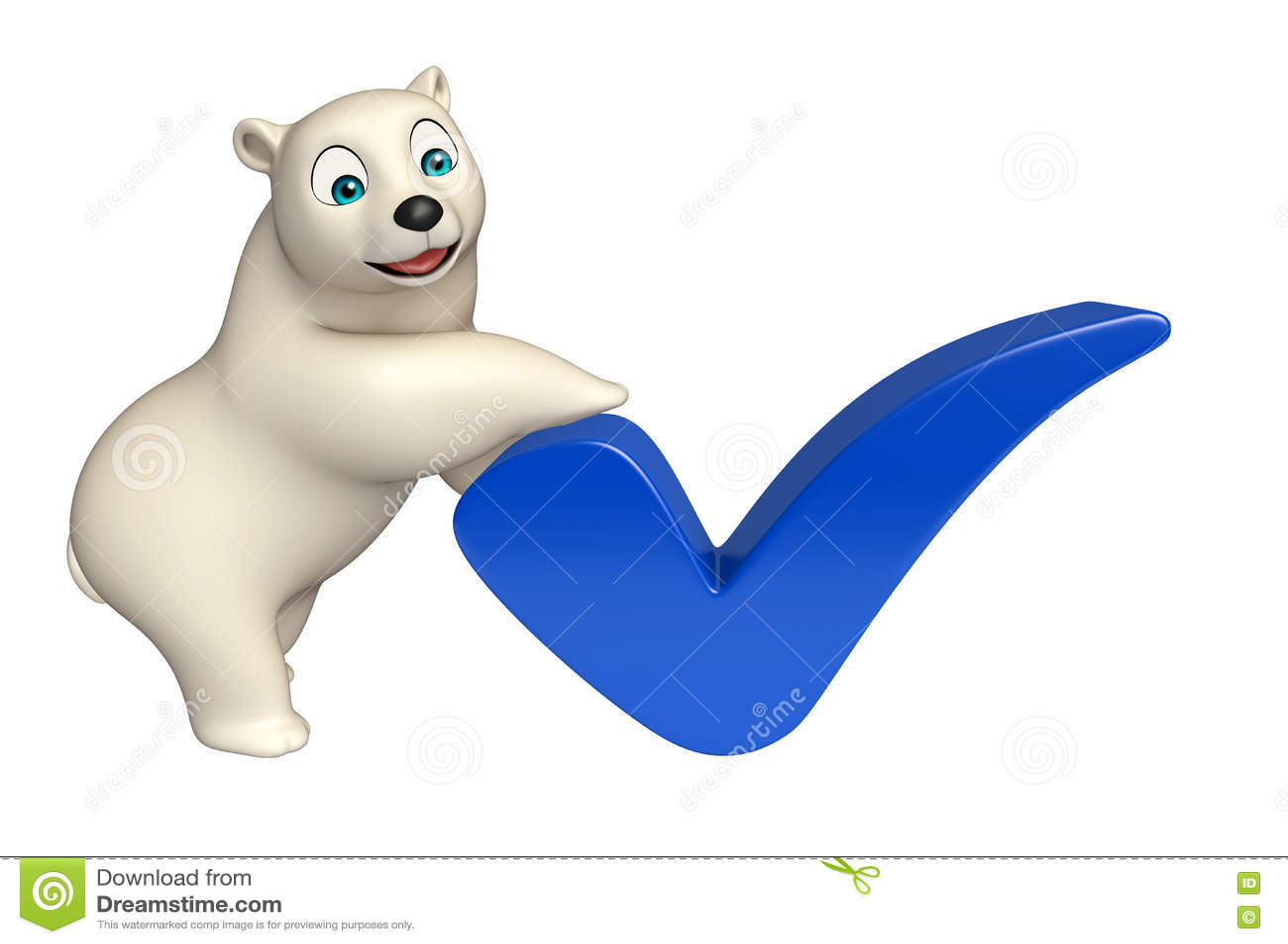 Personaggio dei cartoni animati dell orso polare di divertimento