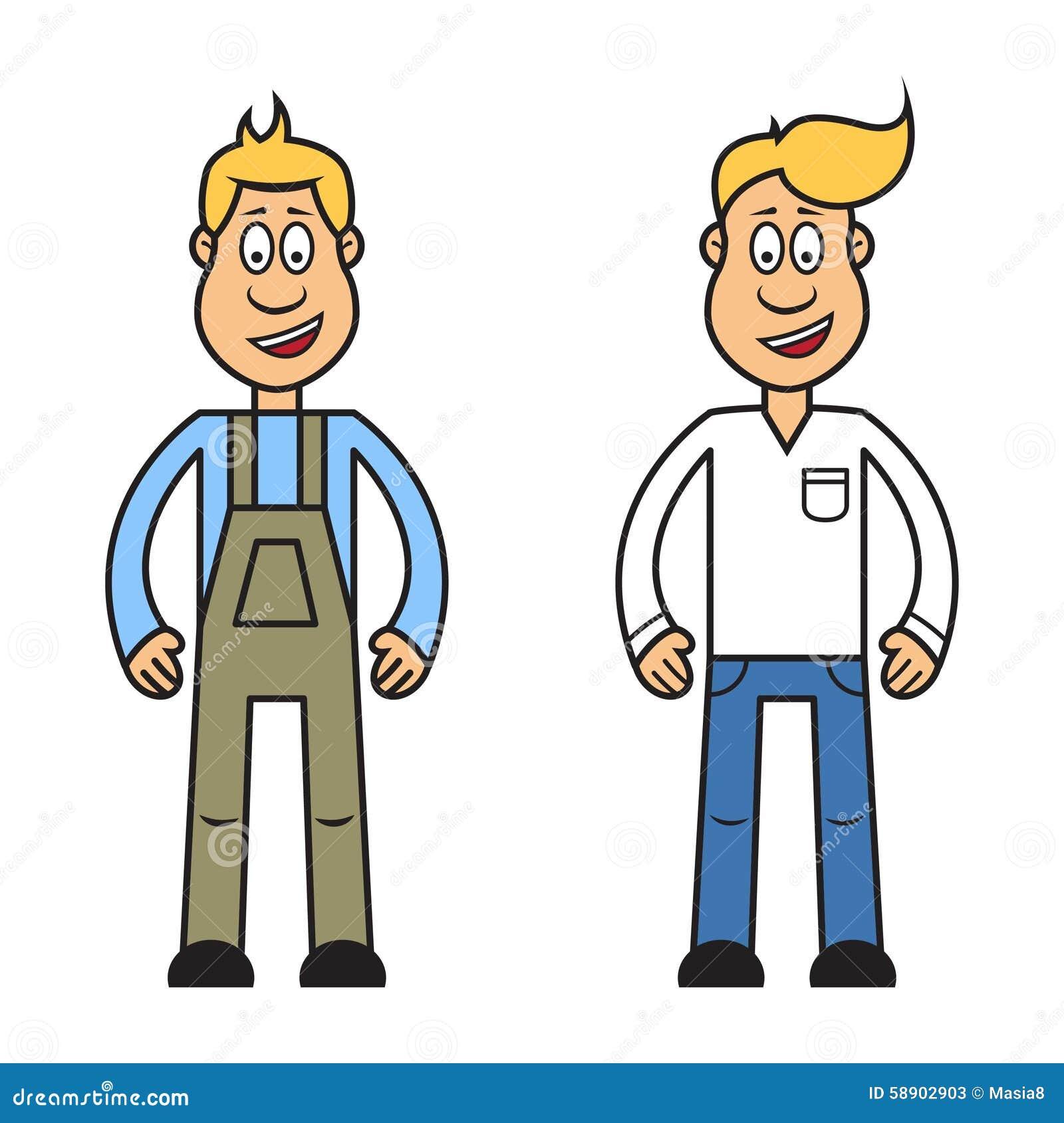 Personaggio dei cartoni animati dell uomo illustrazione