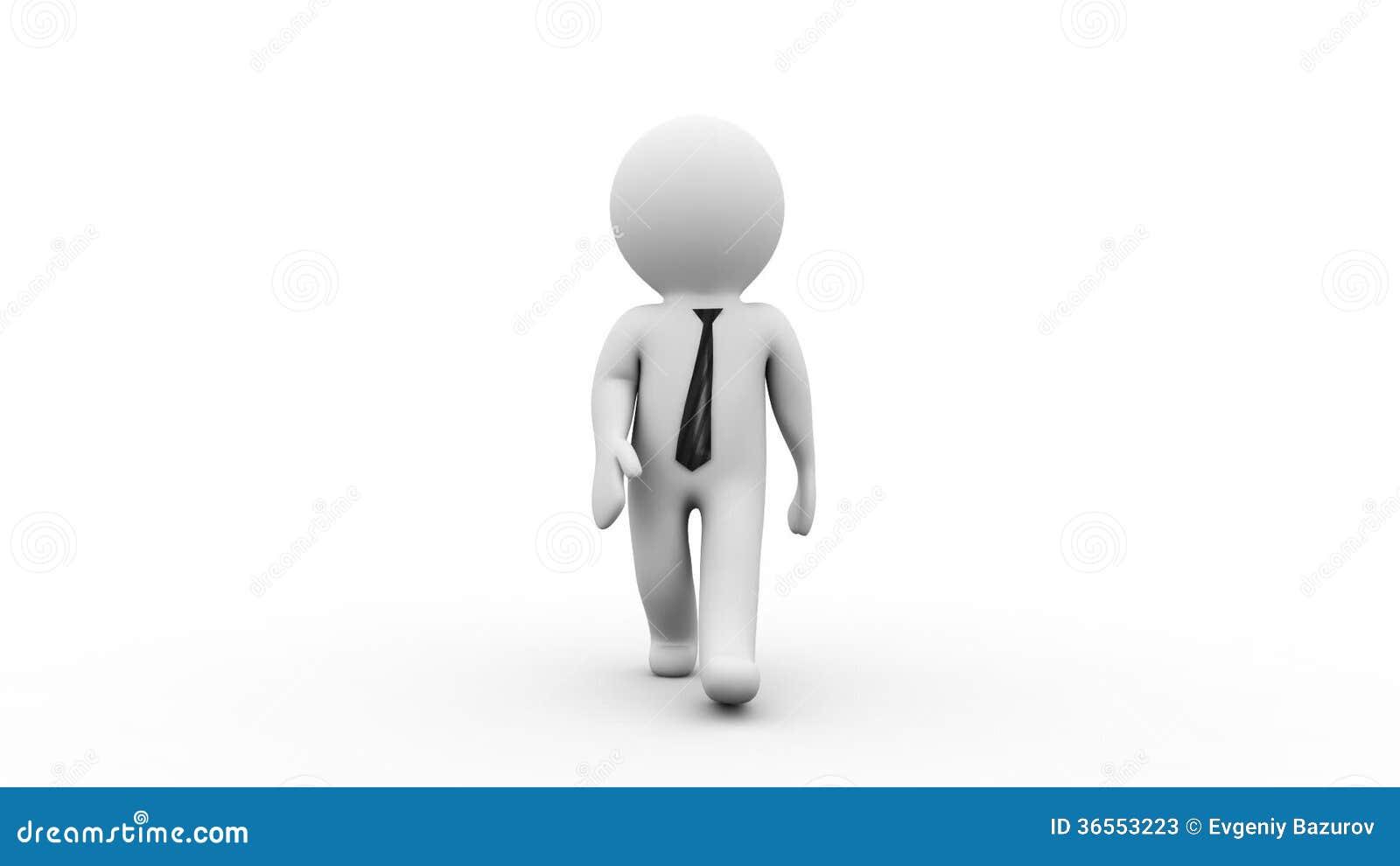 Personaggio dei cartoni animati dell uomo d affari d che cammina