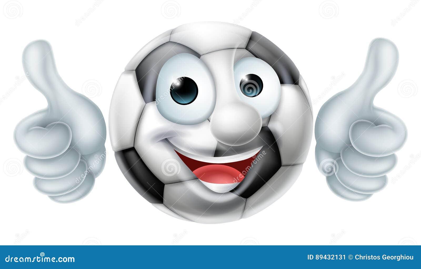 Personaggio dei cartoni animati dell uomo della palla di calcio di
