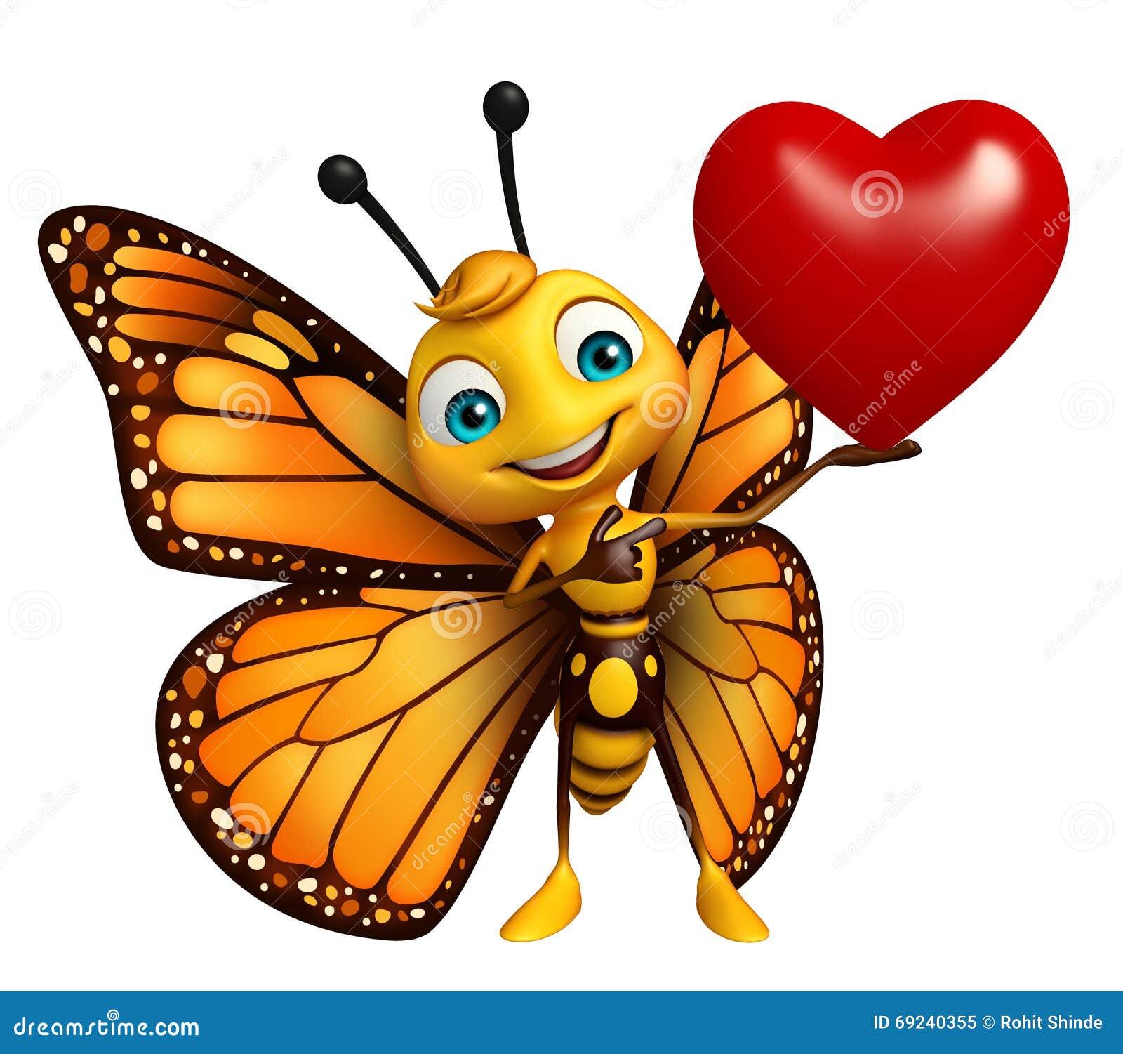 Personaggio dei cartoni animati della farfalla di