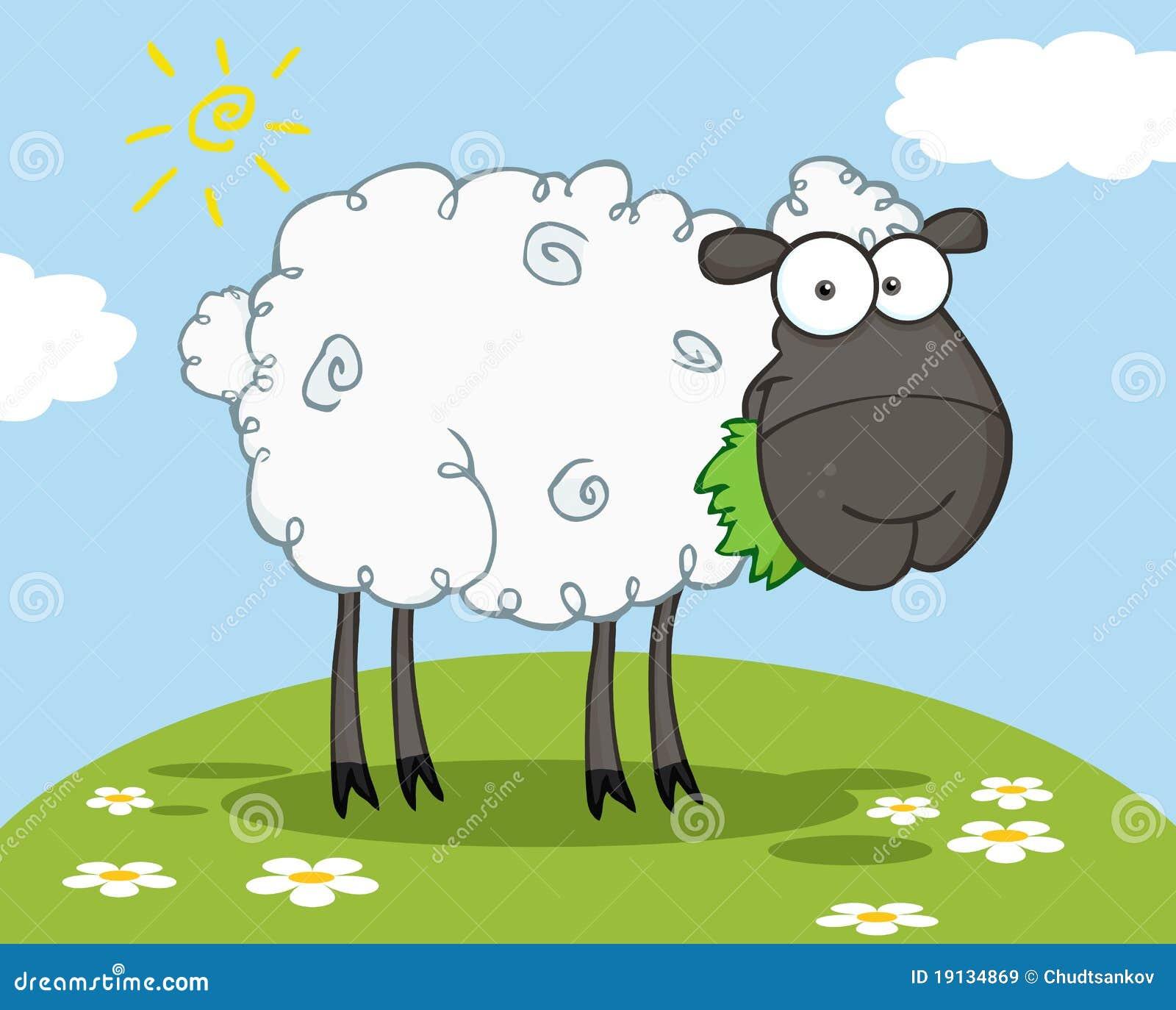 Personaggio dei cartoni animati delle pecore nere - Animali dei cartoni animati a colori ...
