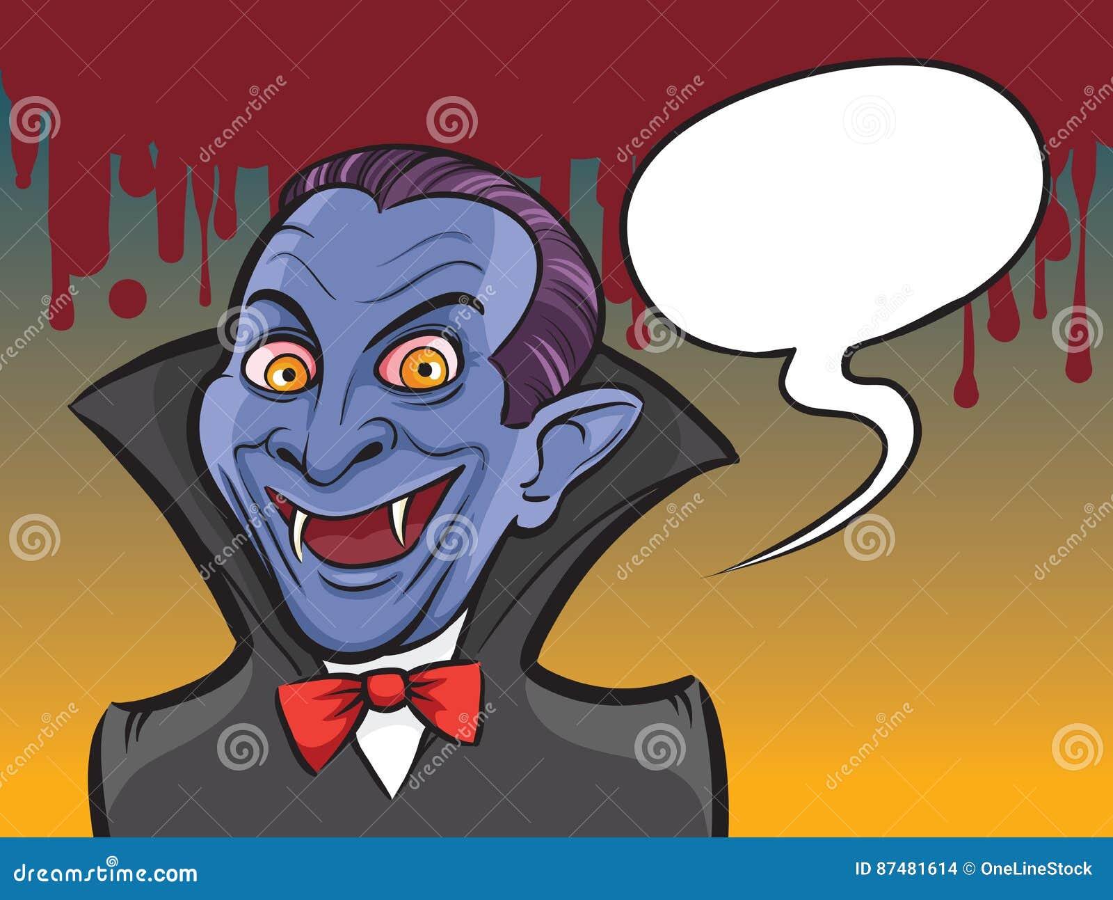 Personaggio dei cartoni animati di halloween del vampiro