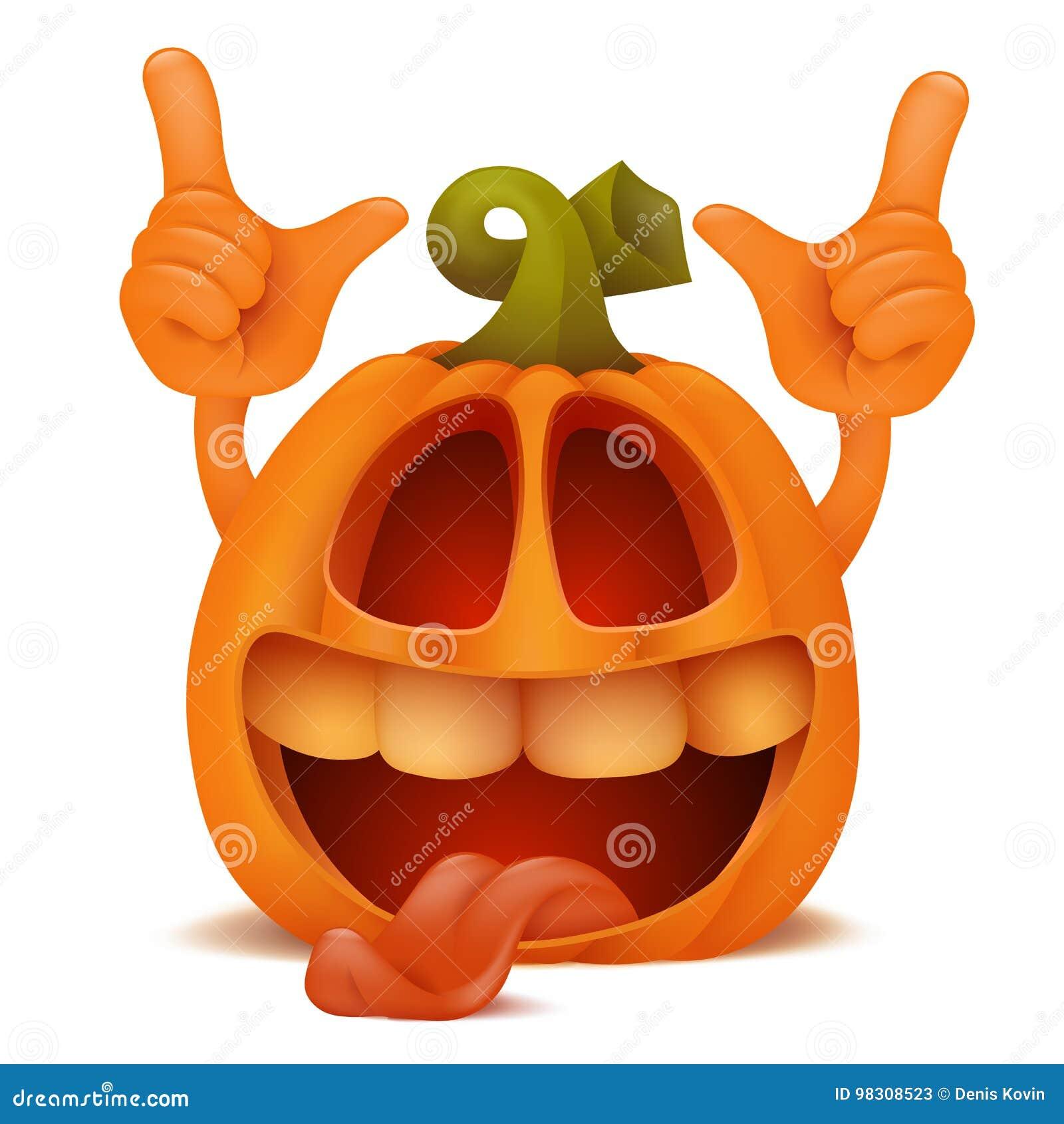 Zucche Di Halloween Cartoni Animati.Personaggio Dei Cartoni Animati Di Risata Dell Emoticon Di Jack