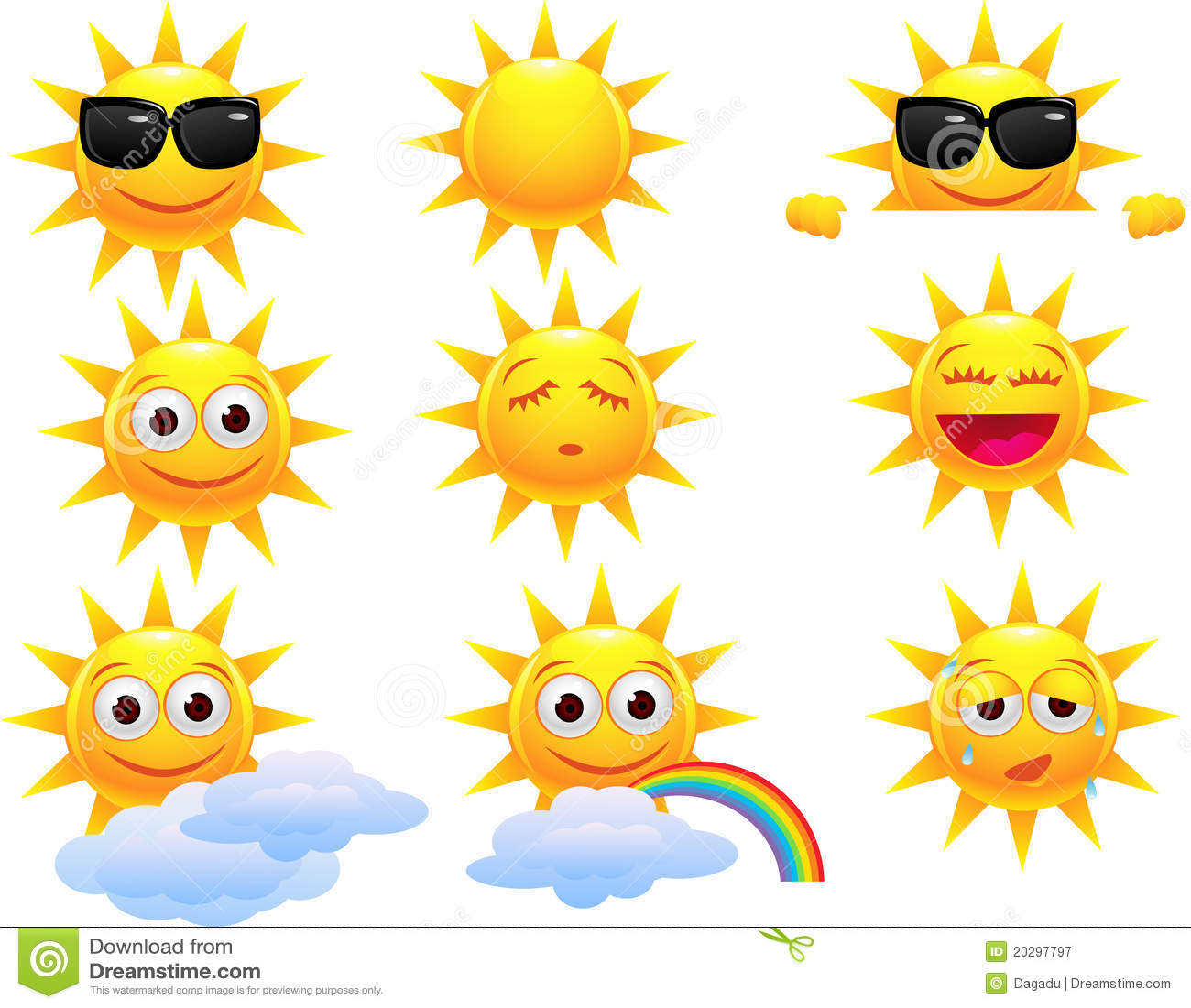 Personaggio dei cartoni animati di sun illustrazione