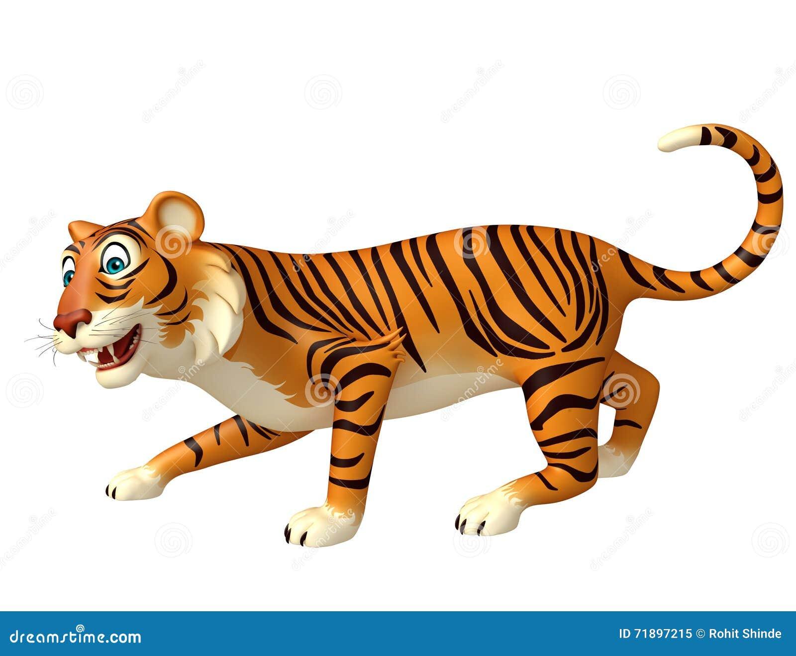 Personaggio dei cartoni animati divertente della tigre