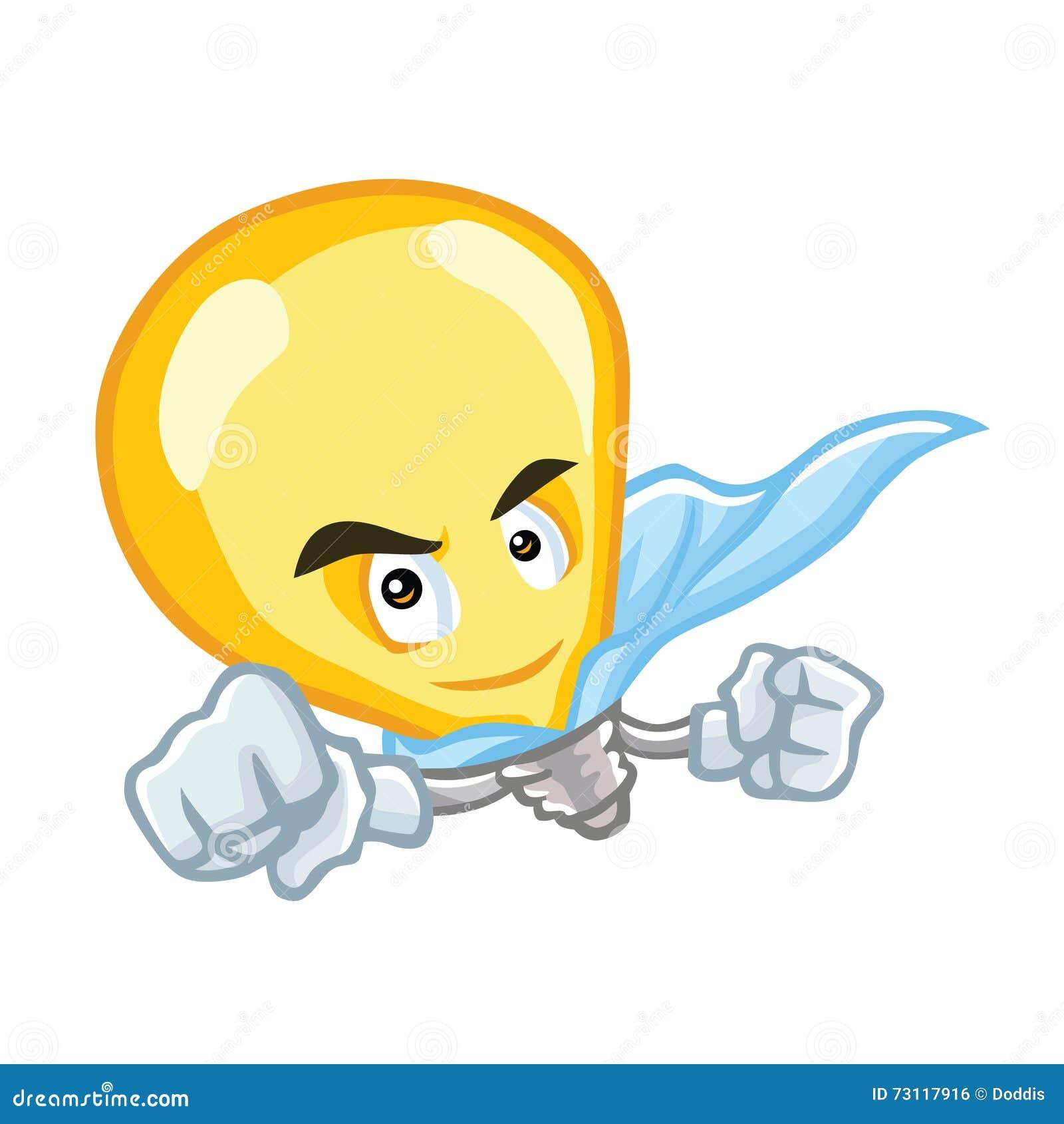 Personaggio dei cartoni animati eccellente della lampadina di idea