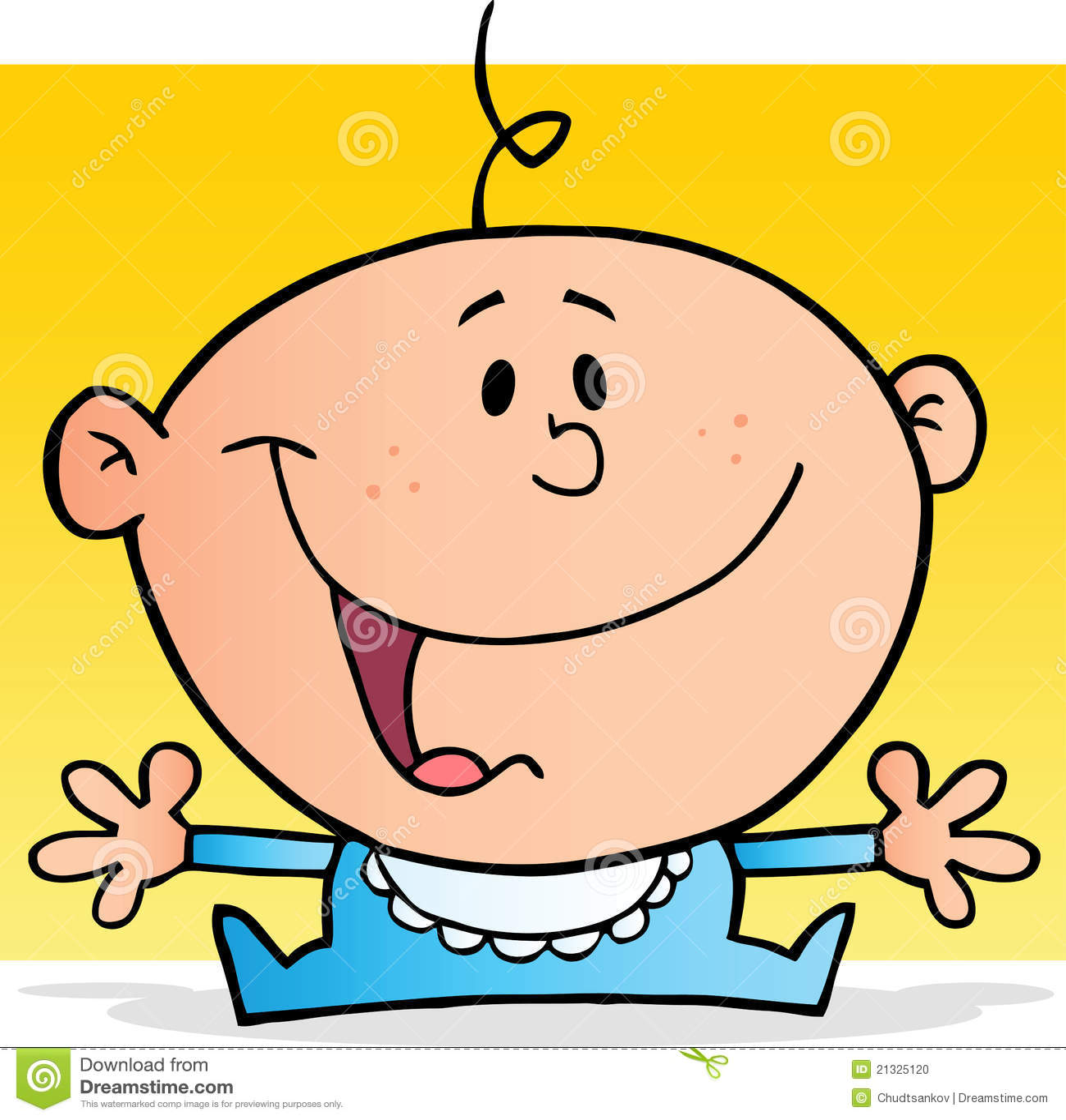 Personaggio dei cartoni animati felice del neonato